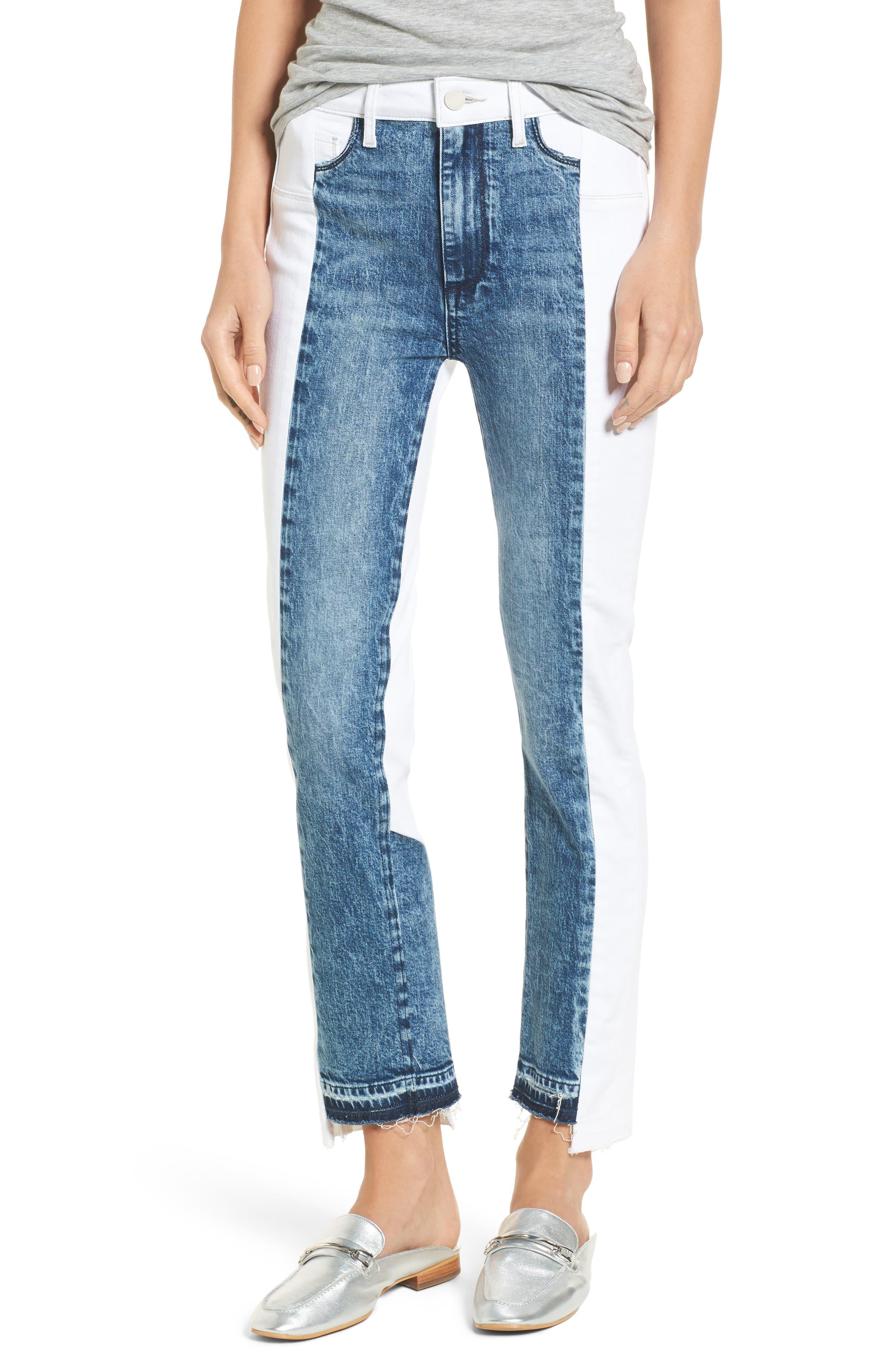 Hoxton High Waist Ankle Straight Leg Jeans,                         Main,                         color, Agnes