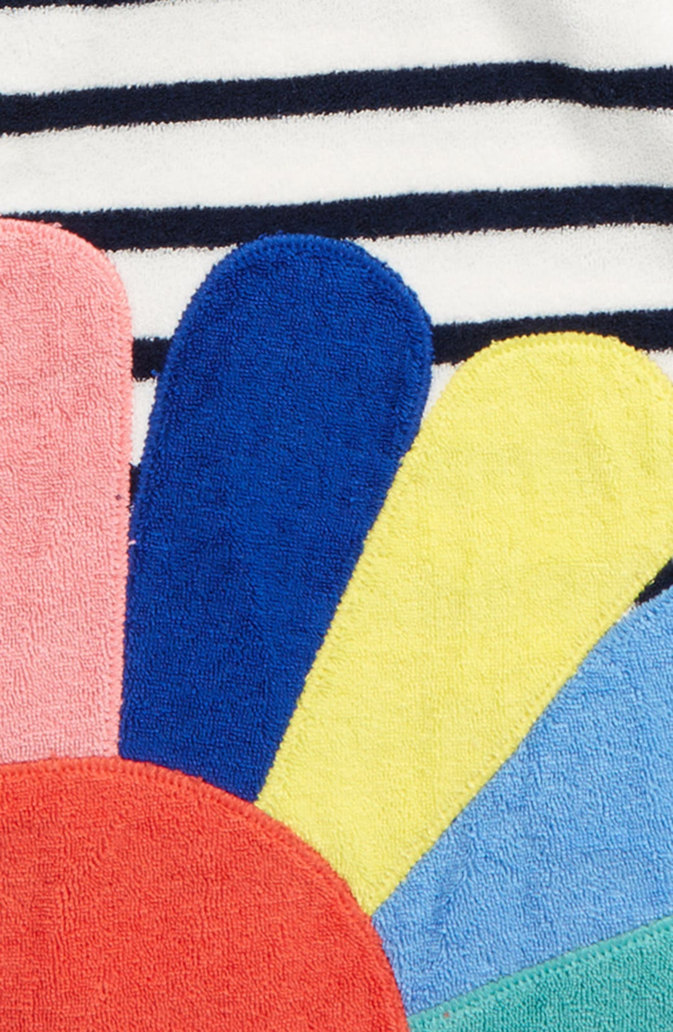 Appliqué Toweling Beach Dress,                             Alternate thumbnail 2, color,                             Ivory/ School Navy Nav