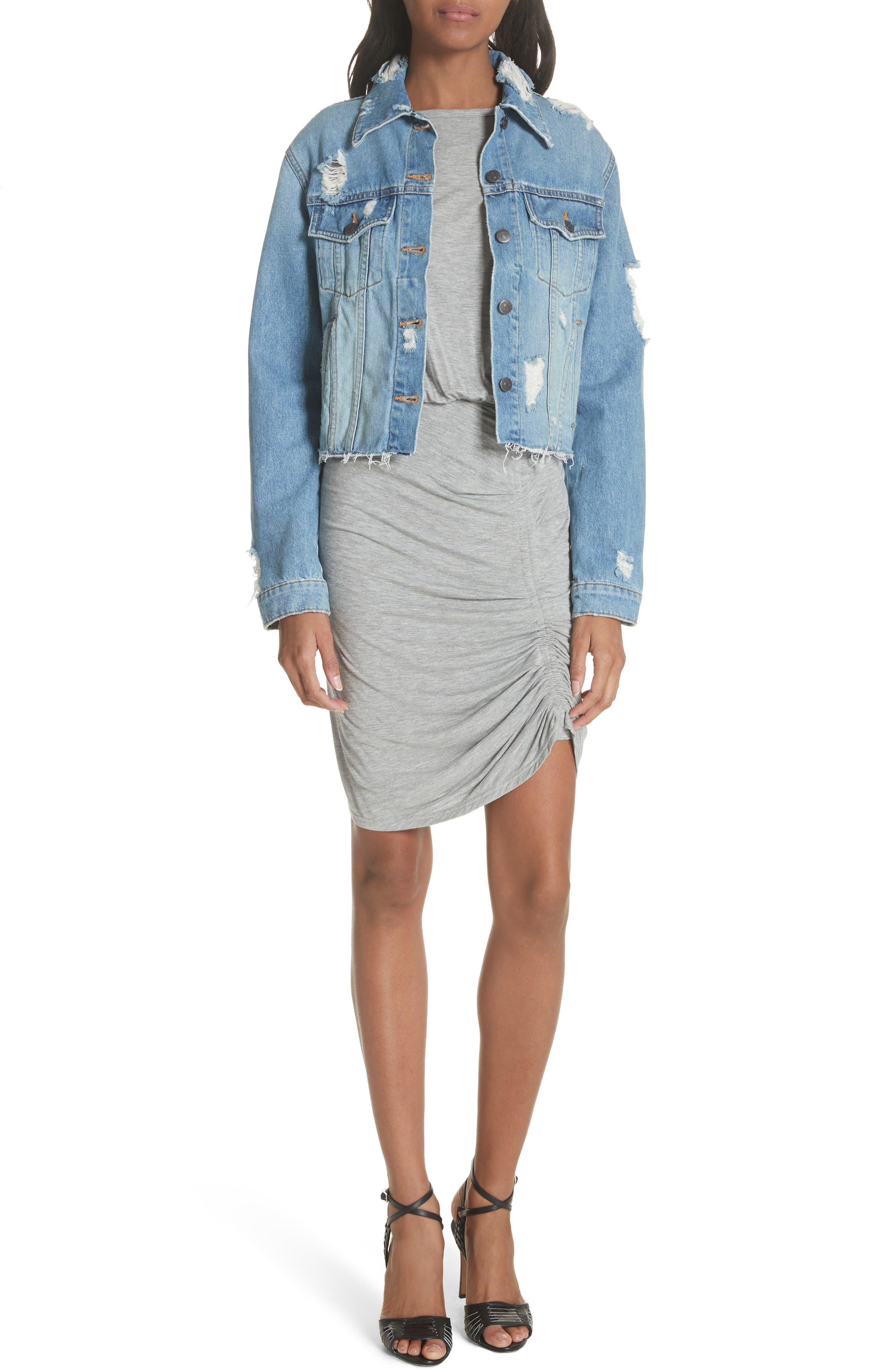 Yari Blouson Dress,                             Alternate thumbnail 7, color,                             Grey