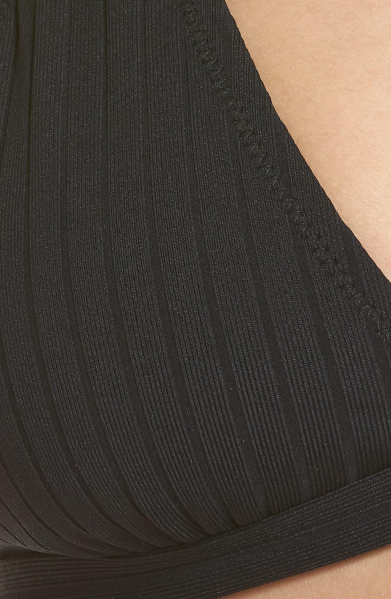 Hermosa Bikini Top,                             Alternate thumbnail 8, color,                             Black Rib