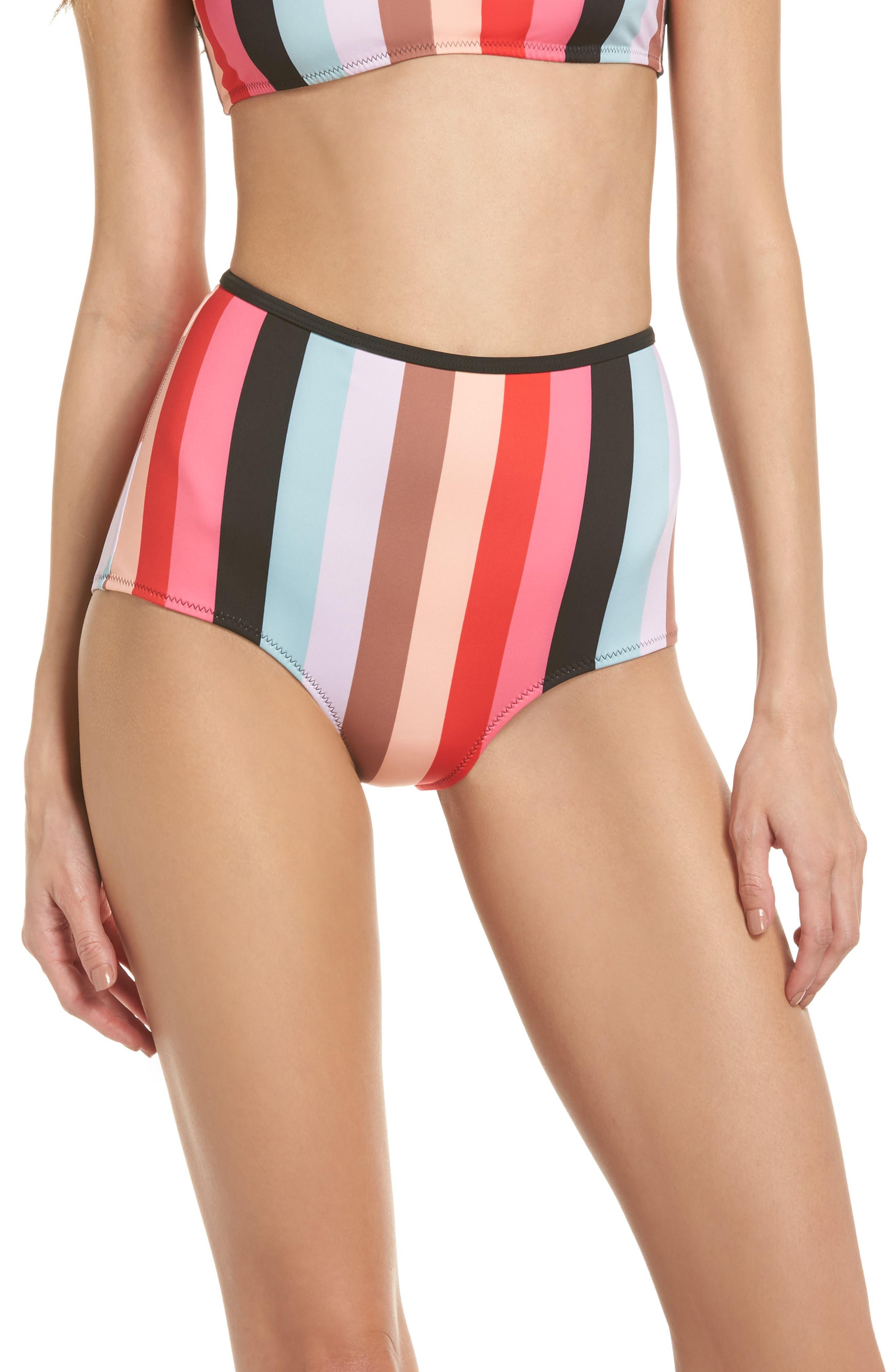 The Brigitte Bikini Bottoms,                         Main,                         color, Red Multi