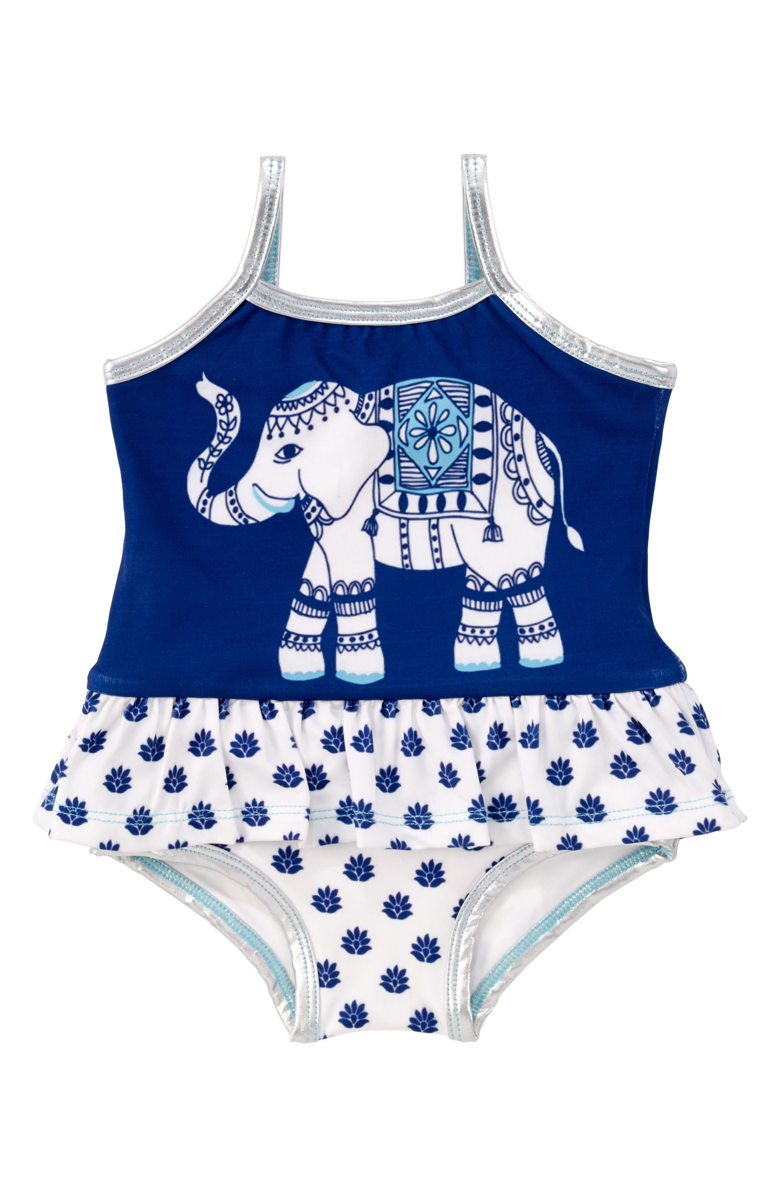 Masala Baby Ruffle One-Piece Swimsuit (Baby Girls)
