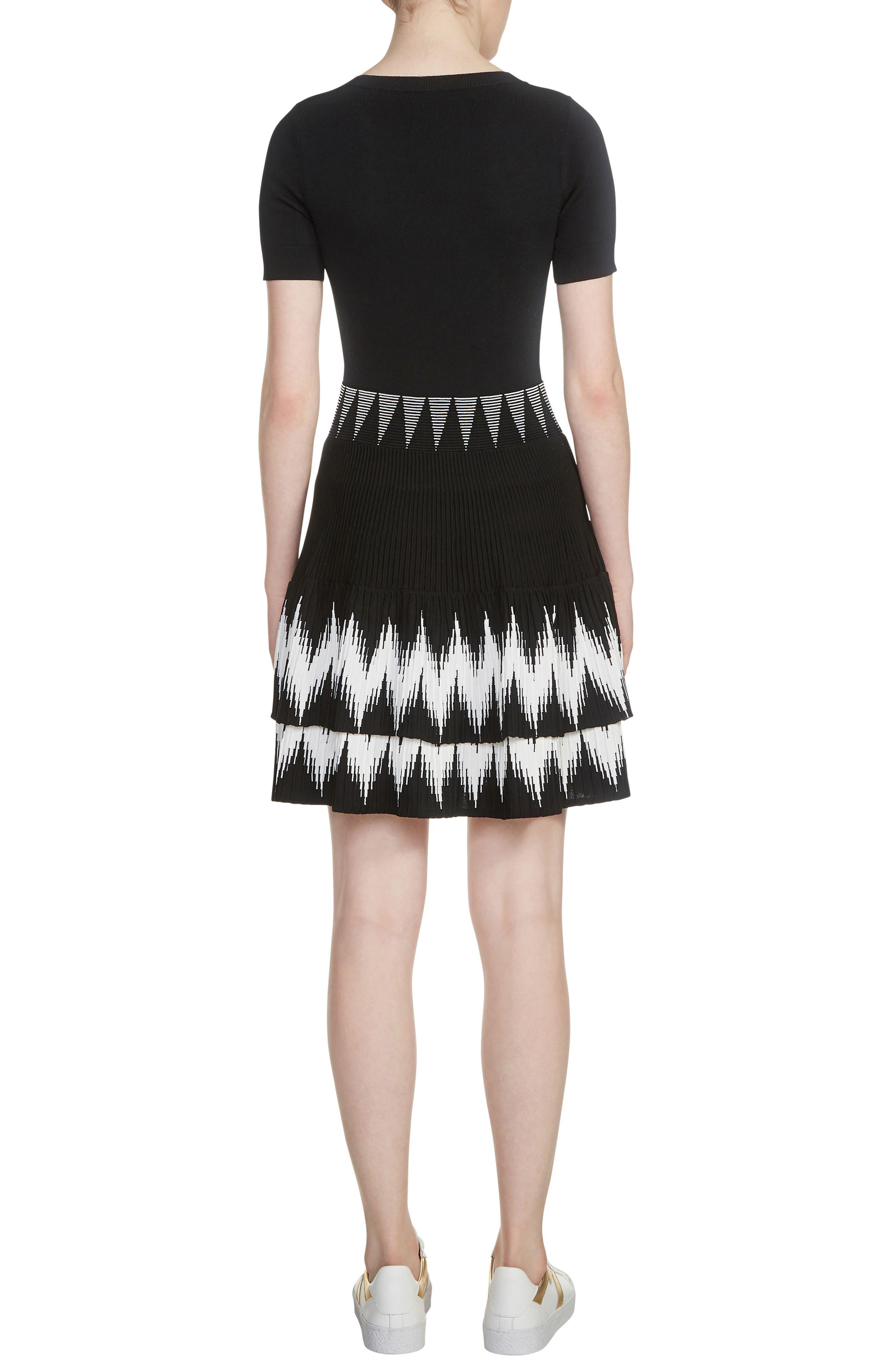 Ralia Skater Dress,                             Alternate thumbnail 2, color,                             Black 210