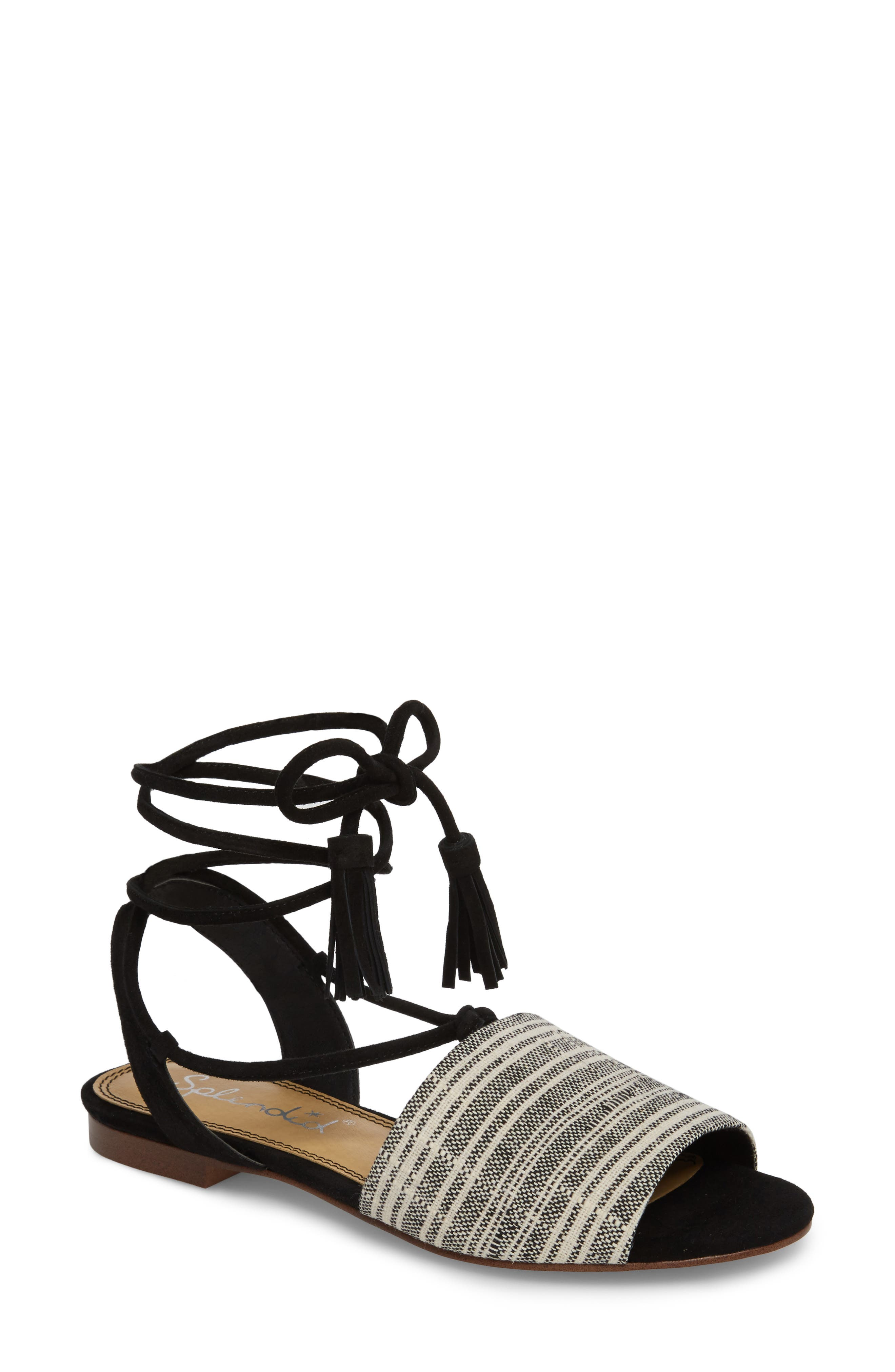 Fidel Ankle Tie Sandal by Splendid