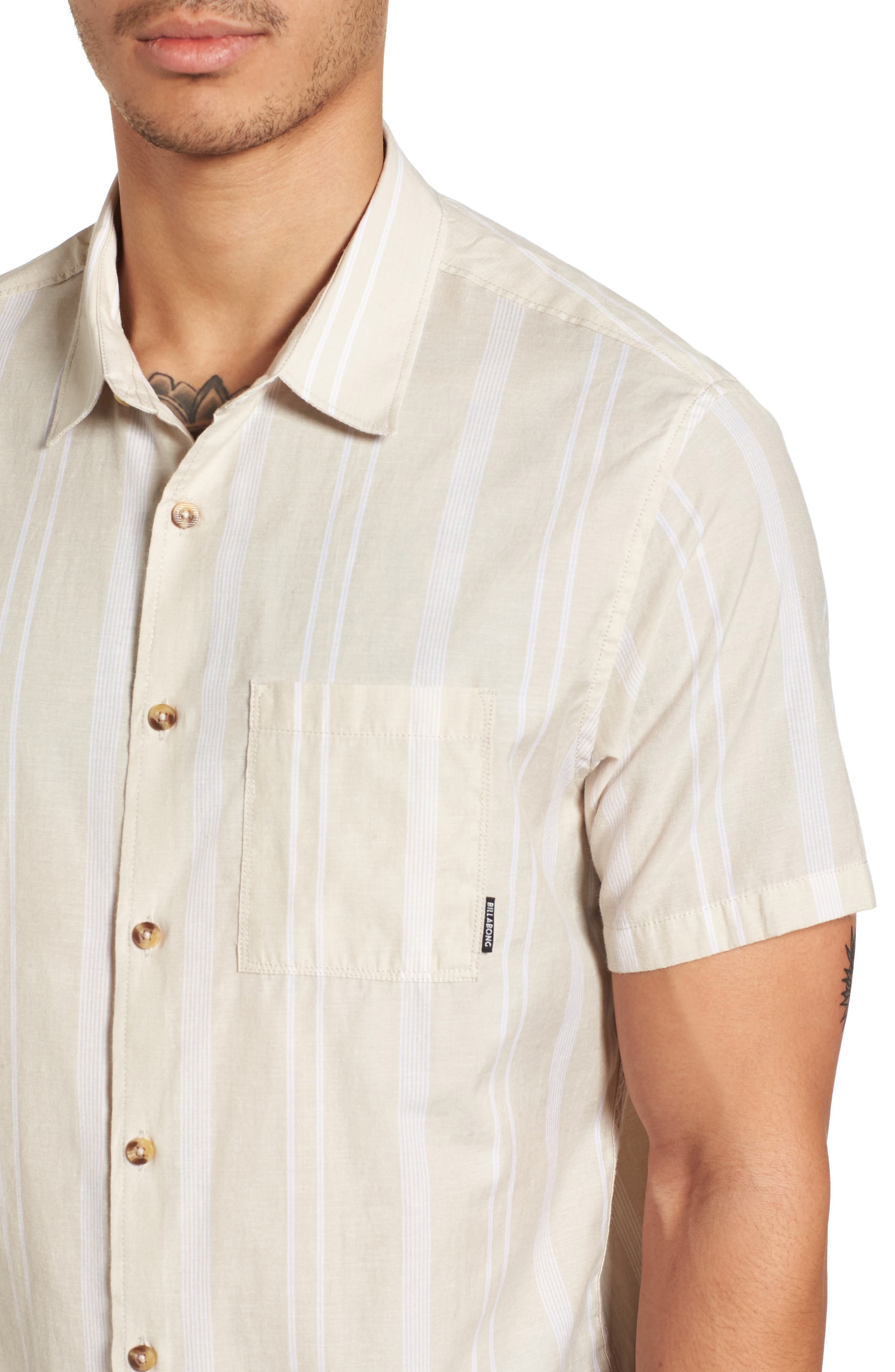Donny Short Sleeve Shirt,                             Alternate thumbnail 2, color,                             Sand