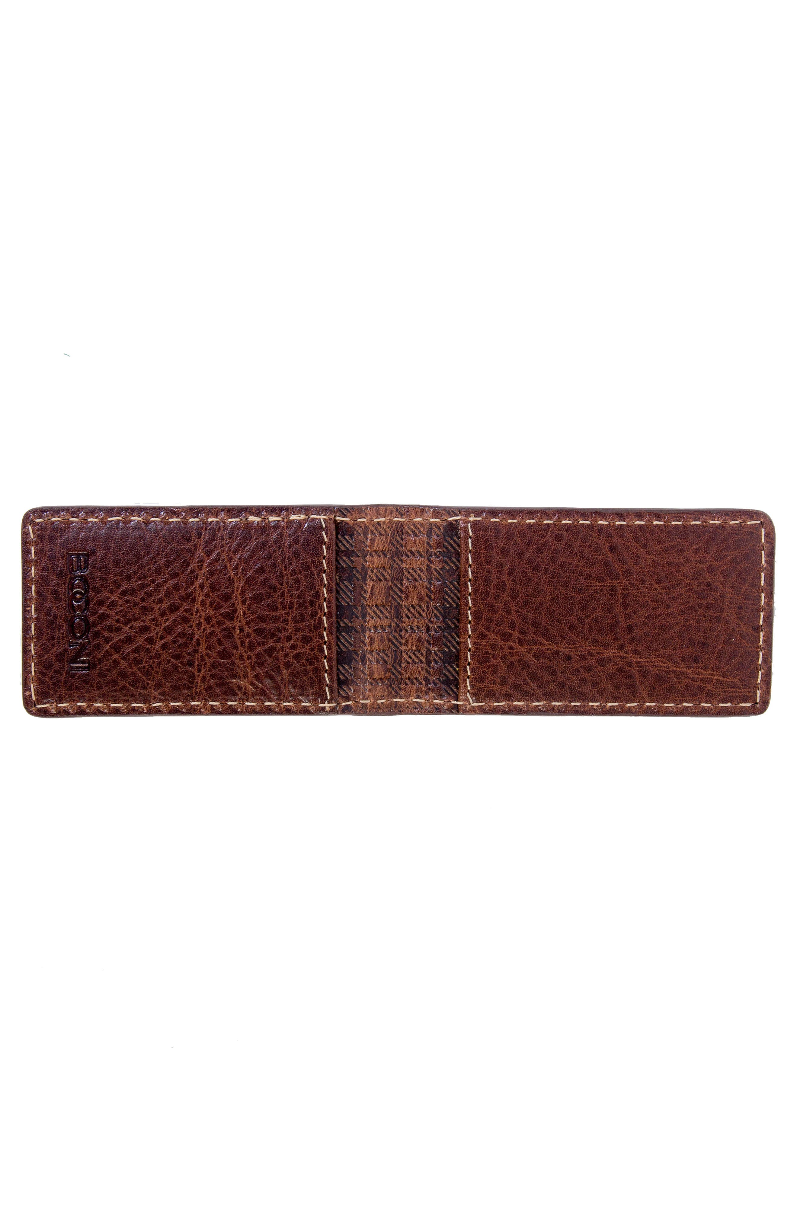Caleb Magnetic Money Clip,                             Alternate thumbnail 3, color,                             Chestnut