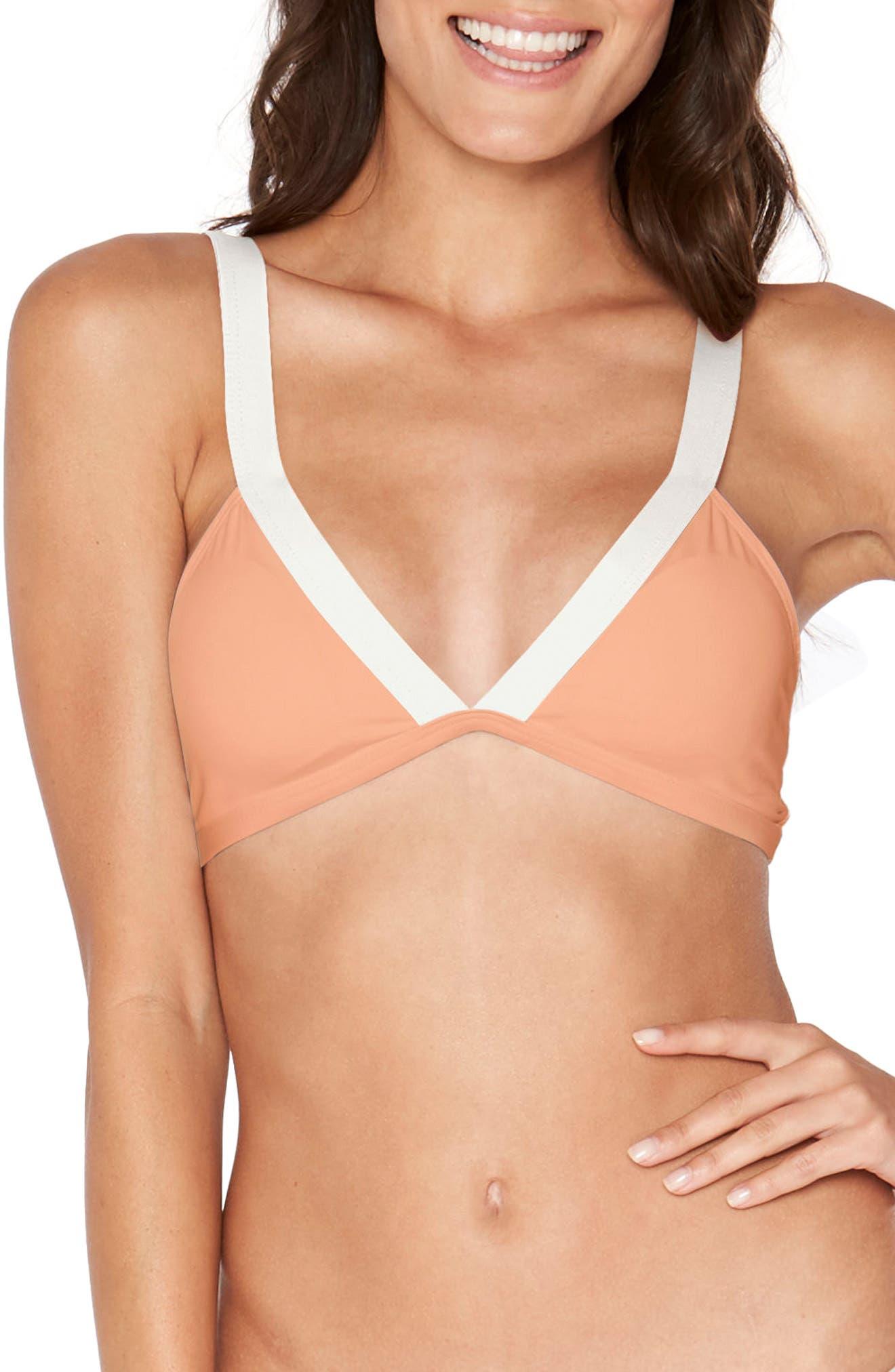Farrah Bikini Top,                             Main thumbnail 1, color,                             Tropical Peach
