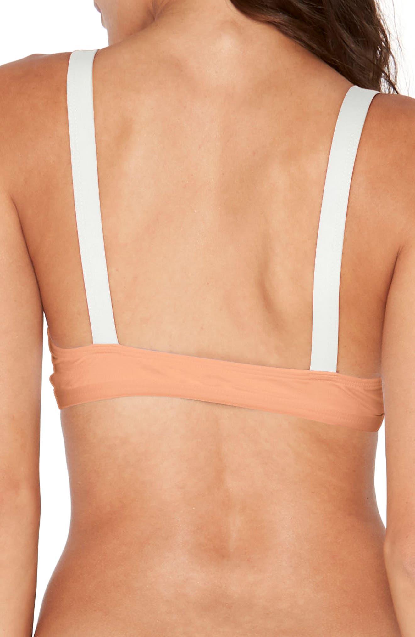 Farrah Bikini Top,                             Alternate thumbnail 2, color,                             Tropical Peach