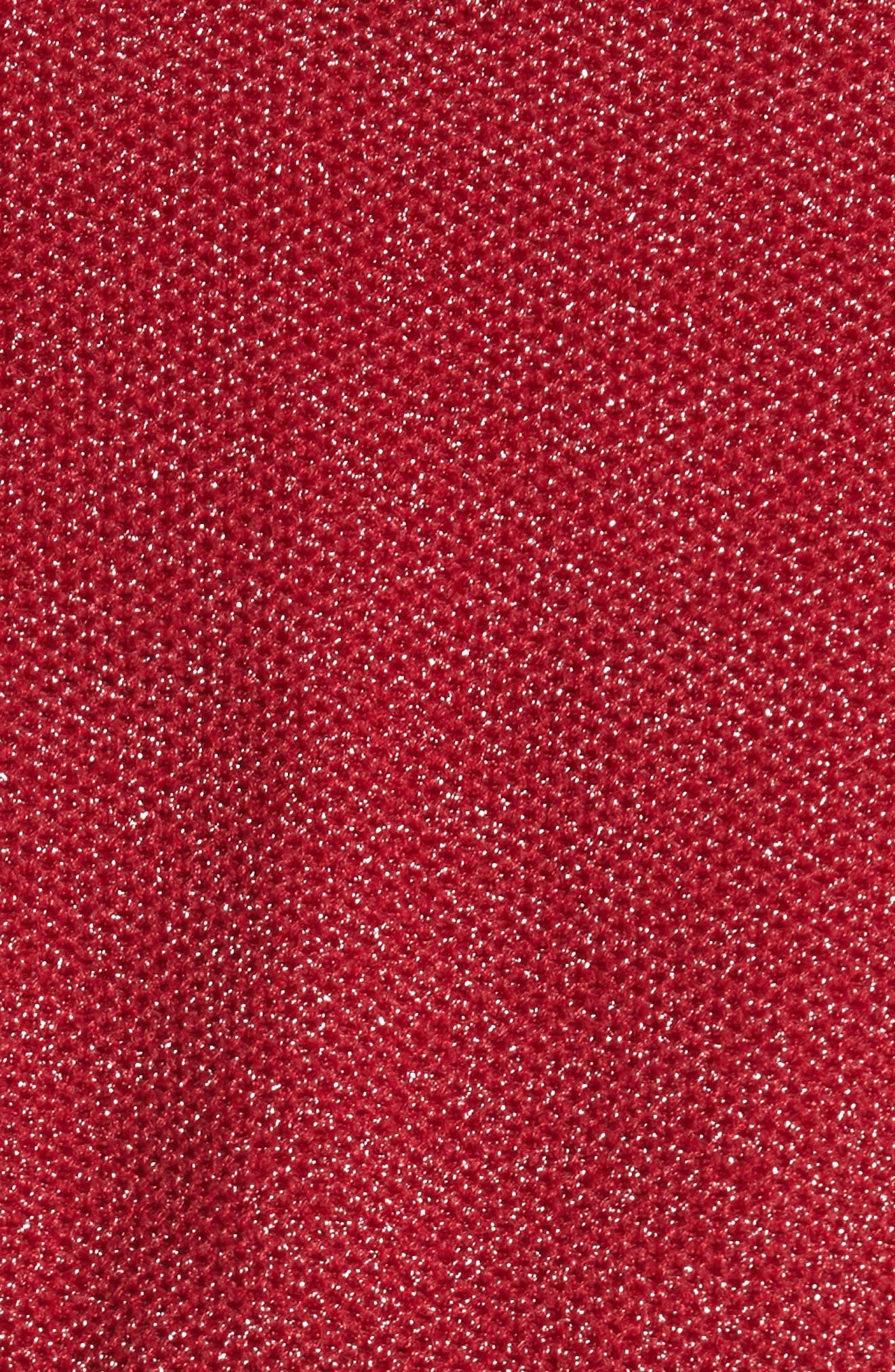 Reversible Crop Jacket,                             Alternate thumbnail 6, color,                             Brown/ Red