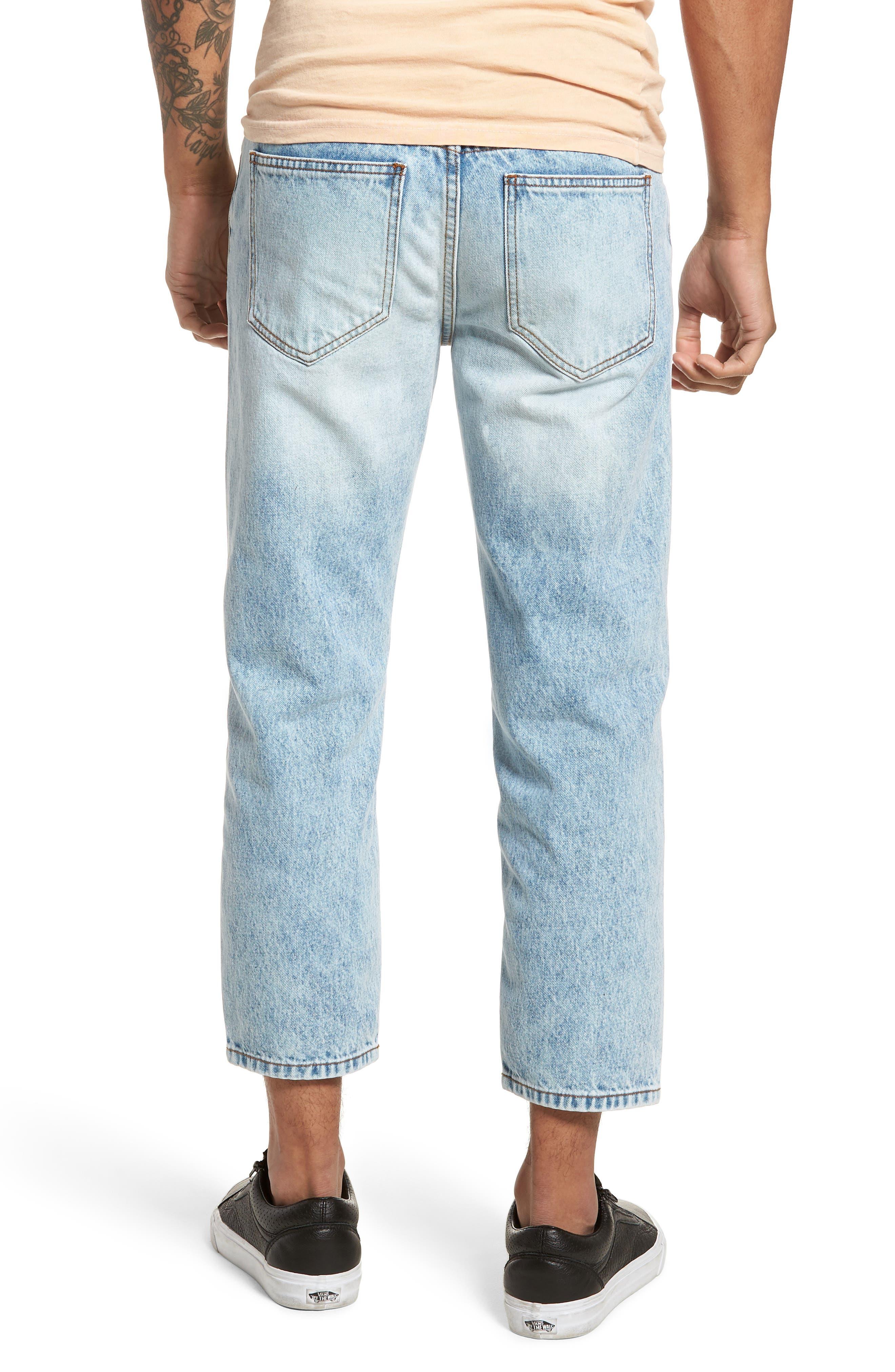 Otis Straight Leg Jeans,                             Alternate thumbnail 2, color,                             Light Blue Wash