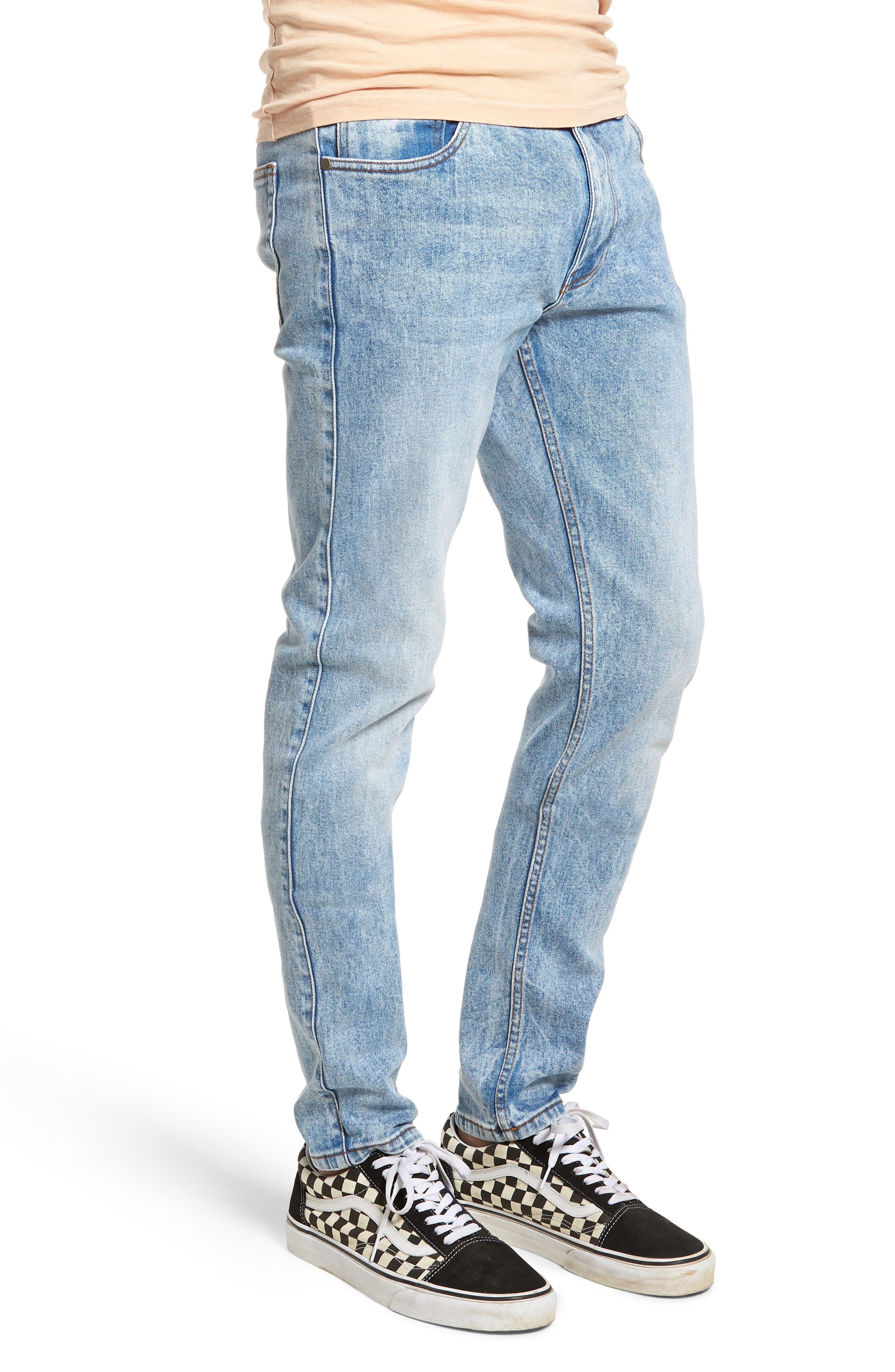 Clark Slim Straight Leg Jeans,                             Alternate thumbnail 3, color,                             Foggy Blue