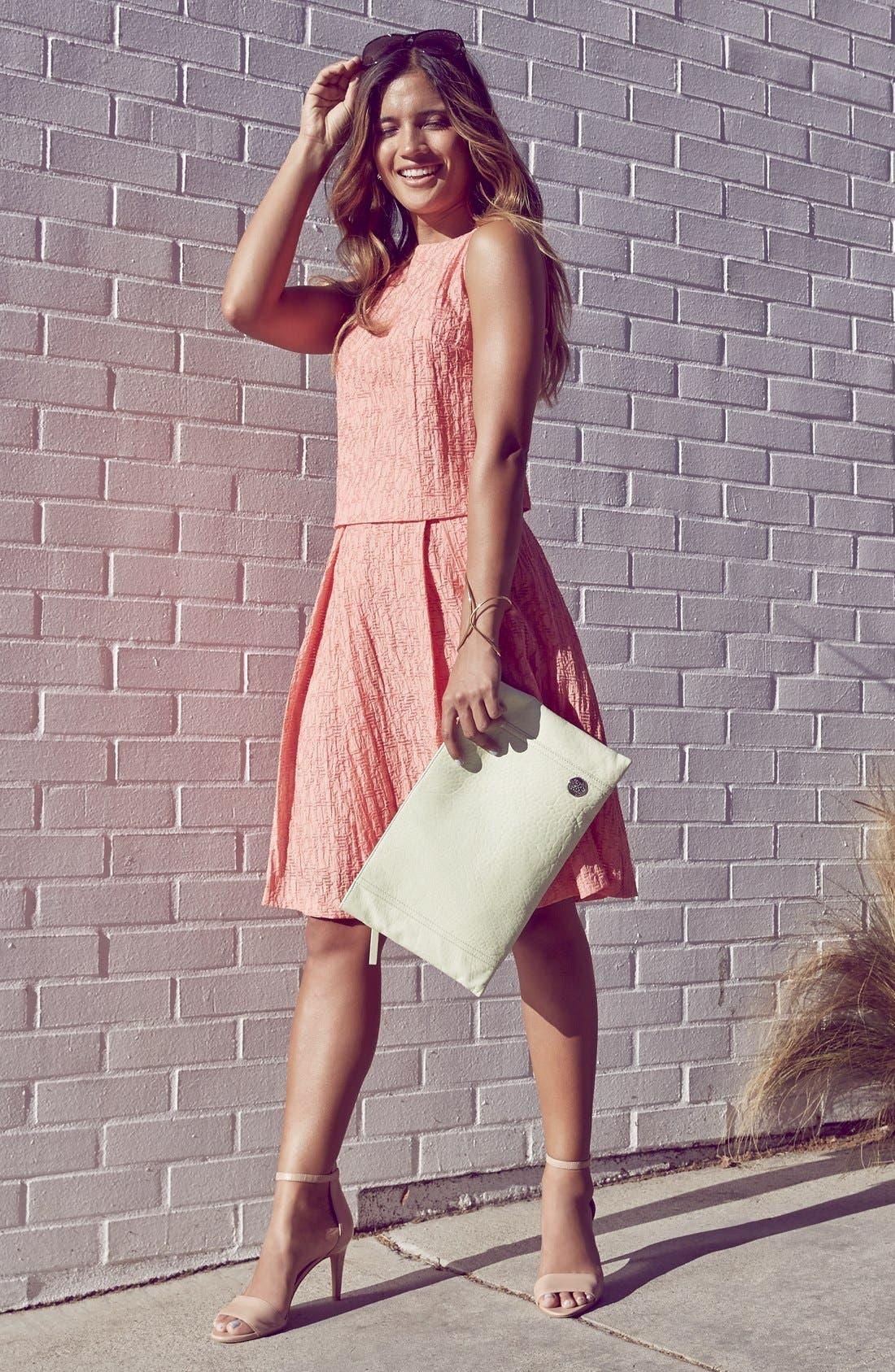 Alternate Image 4  - Vince Camuto Pleated A-Line Skirt (Regular & Petite)