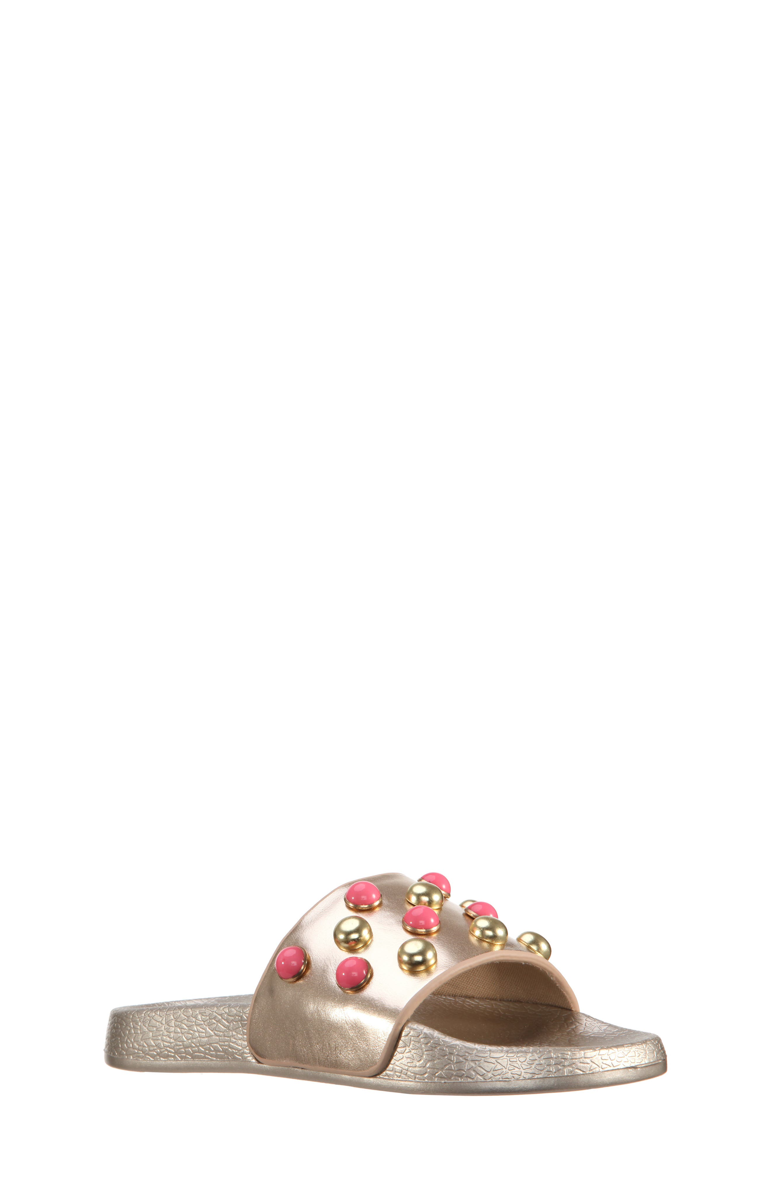 Jeaninne II Metallic Sport Slide Sandal,                         Main,                         color, Platino Metallic