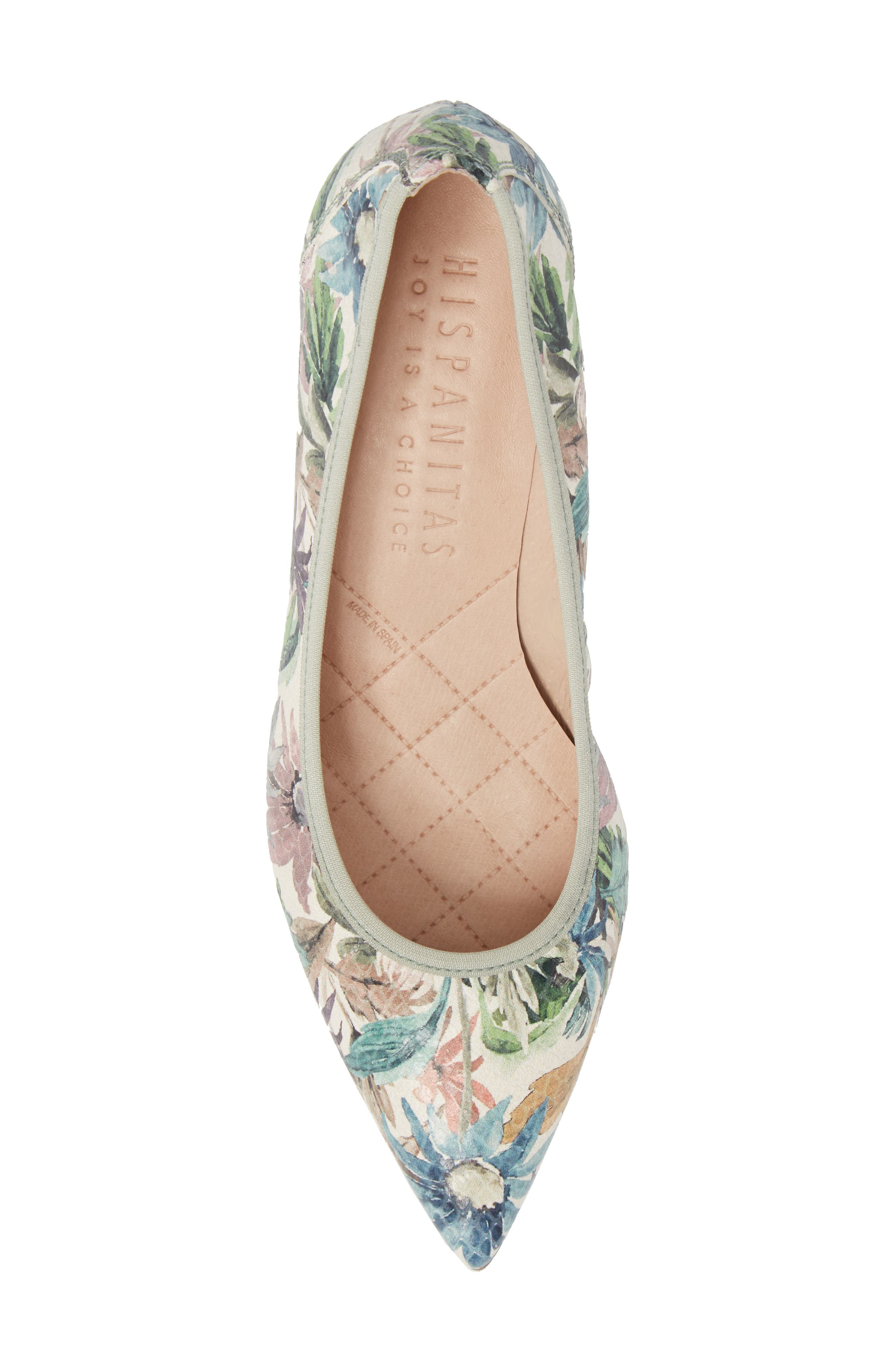 Melanie Pointy Toe Pump,                             Alternate thumbnail 5, color,                             Blossom Leather