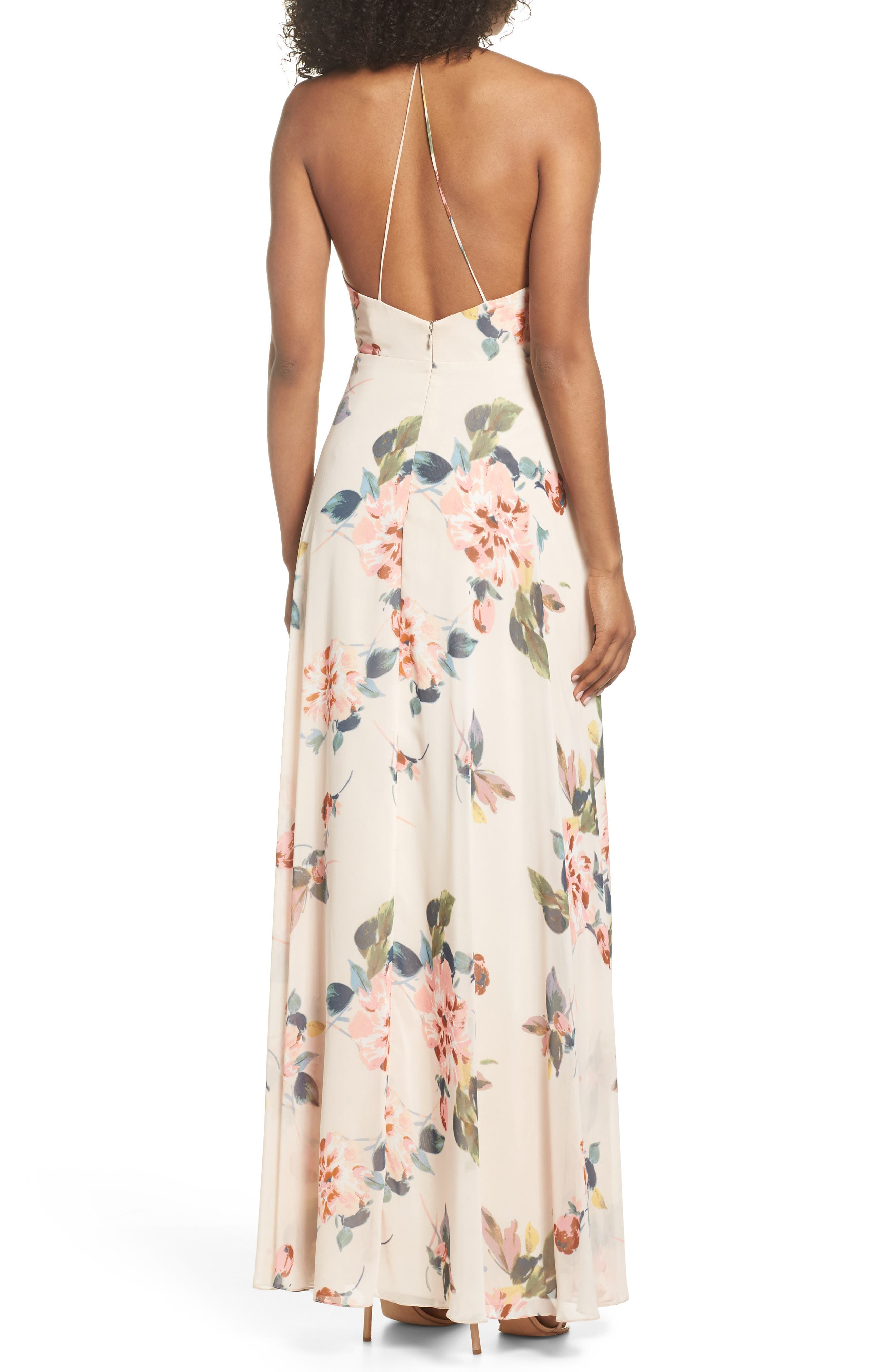 Alternate Image 2  - Jenny Yoo Farrah Halter Gown