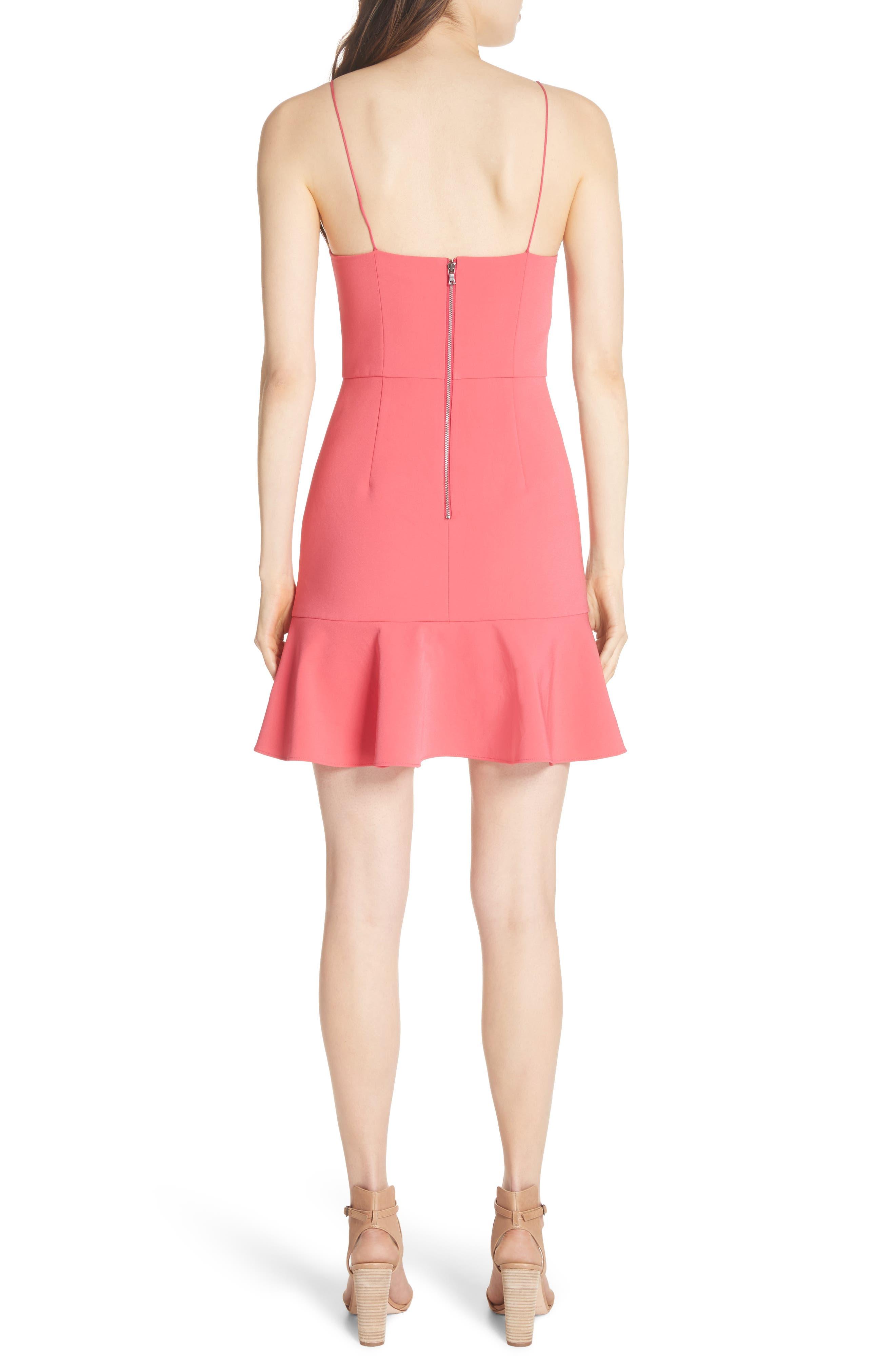 Andalasia Sleeveless Fit & Flare Dress,                             Alternate thumbnail 2, color,                             Watermelon