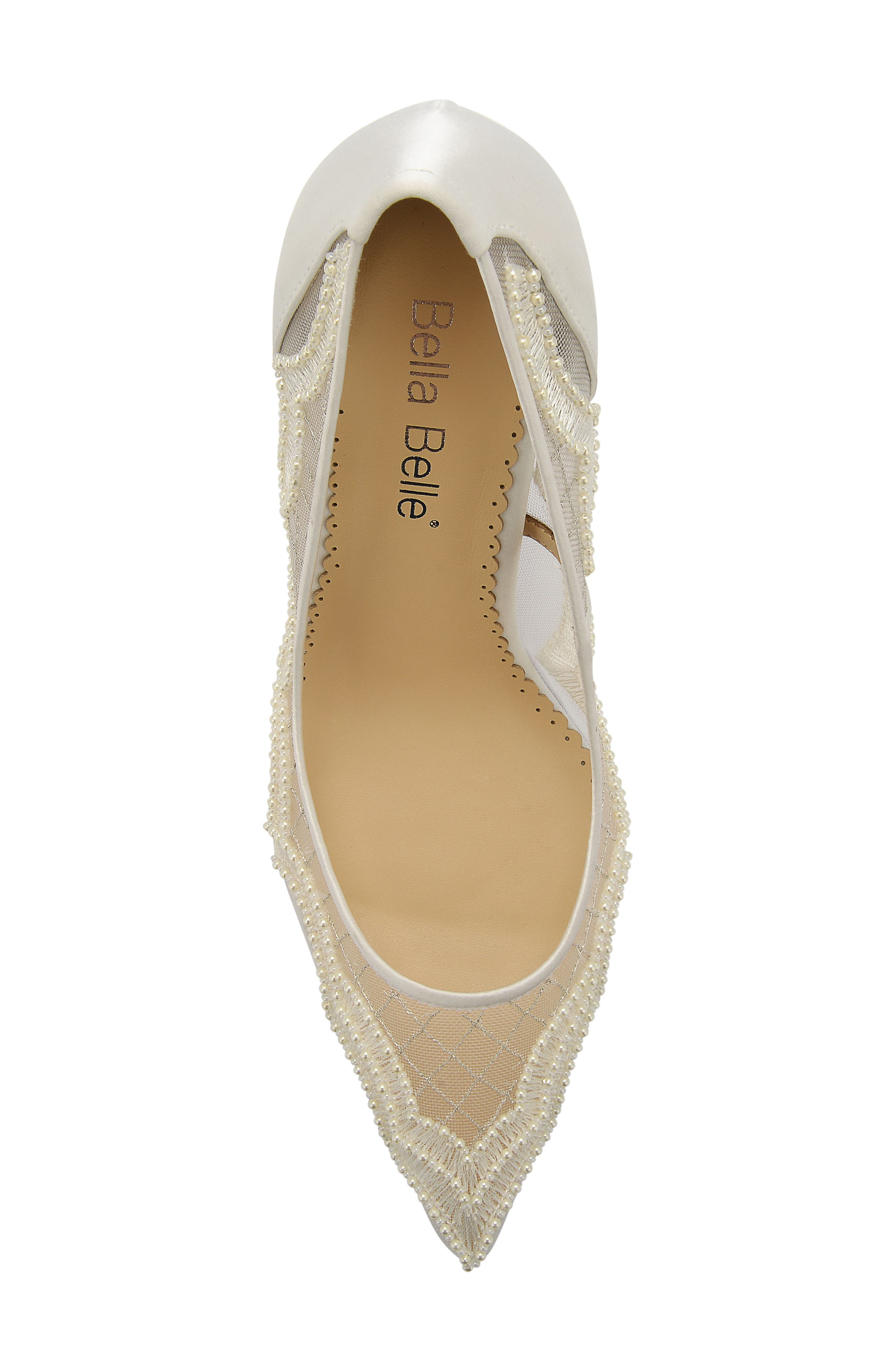 Nadia Pump,                             Alternate thumbnail 5, color,                             Ivory Silk