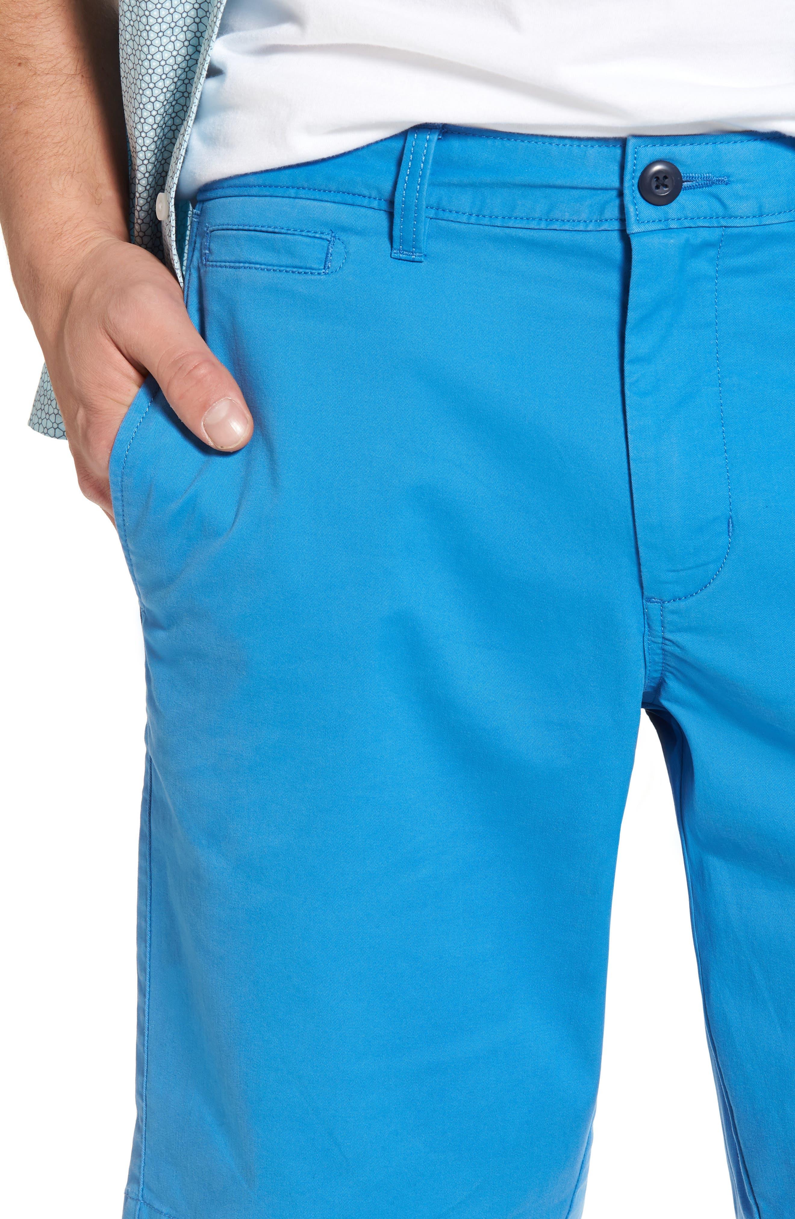 Ballard Slim Fit Stretch Chino 11-Inch Shorts,                             Alternate thumbnail 6, color,                             Blue Camp