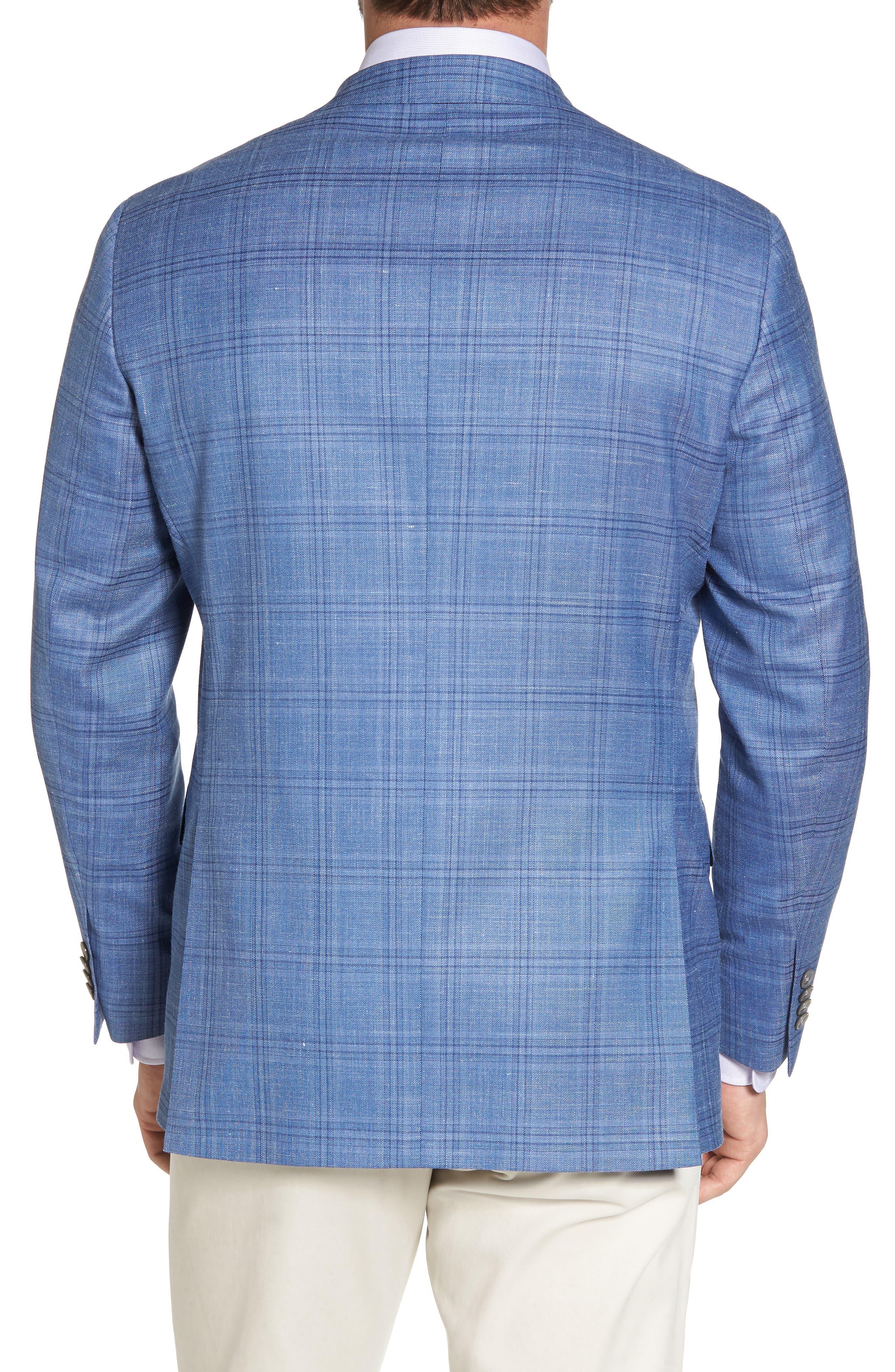 Arnold Classic Fit Plaid Wool Blend Sport Coat,                             Alternate thumbnail 2, color,                             Blue