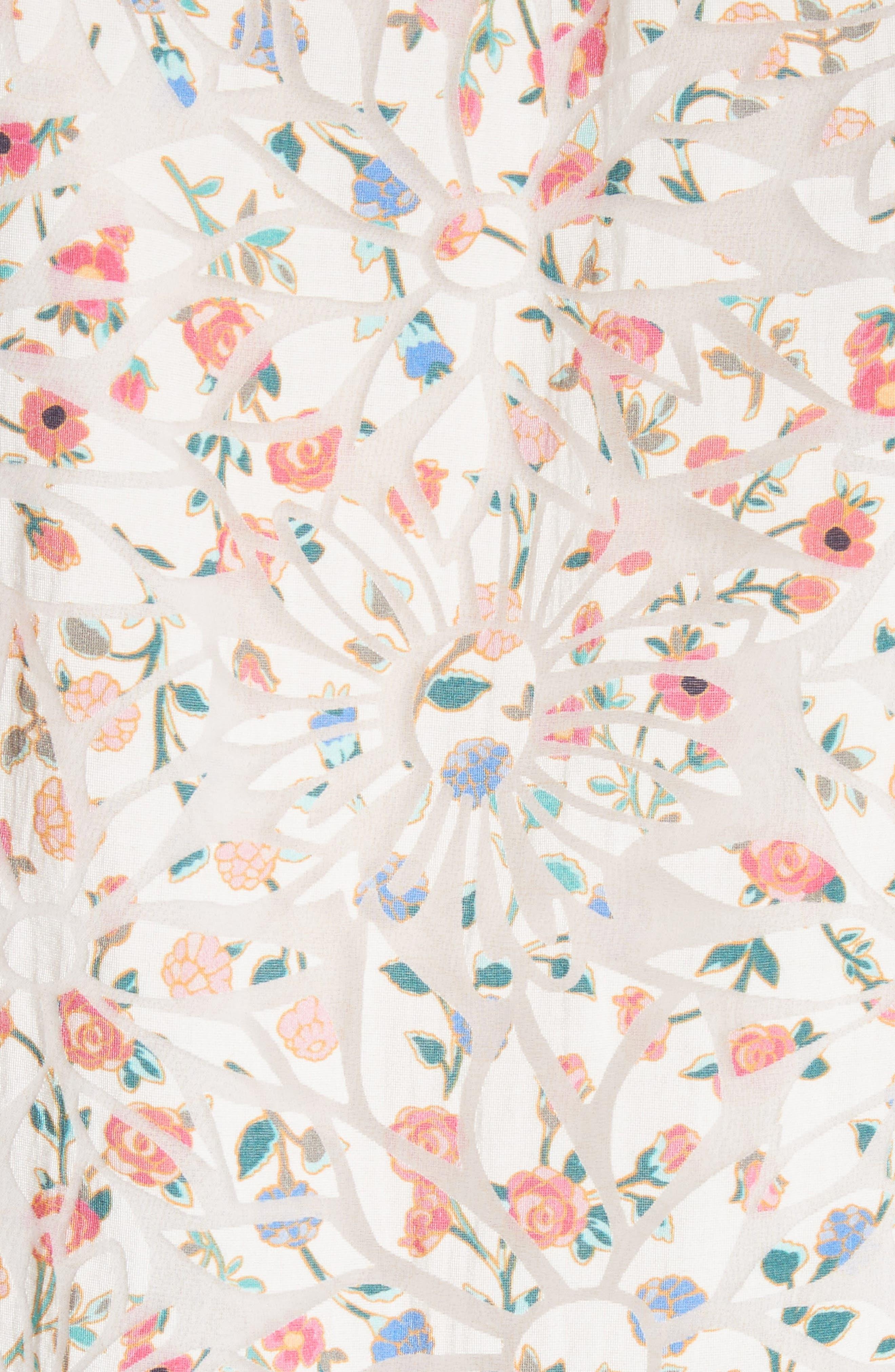 mini bloom burnout top,                             Alternate thumbnail 5, color,                             Cream