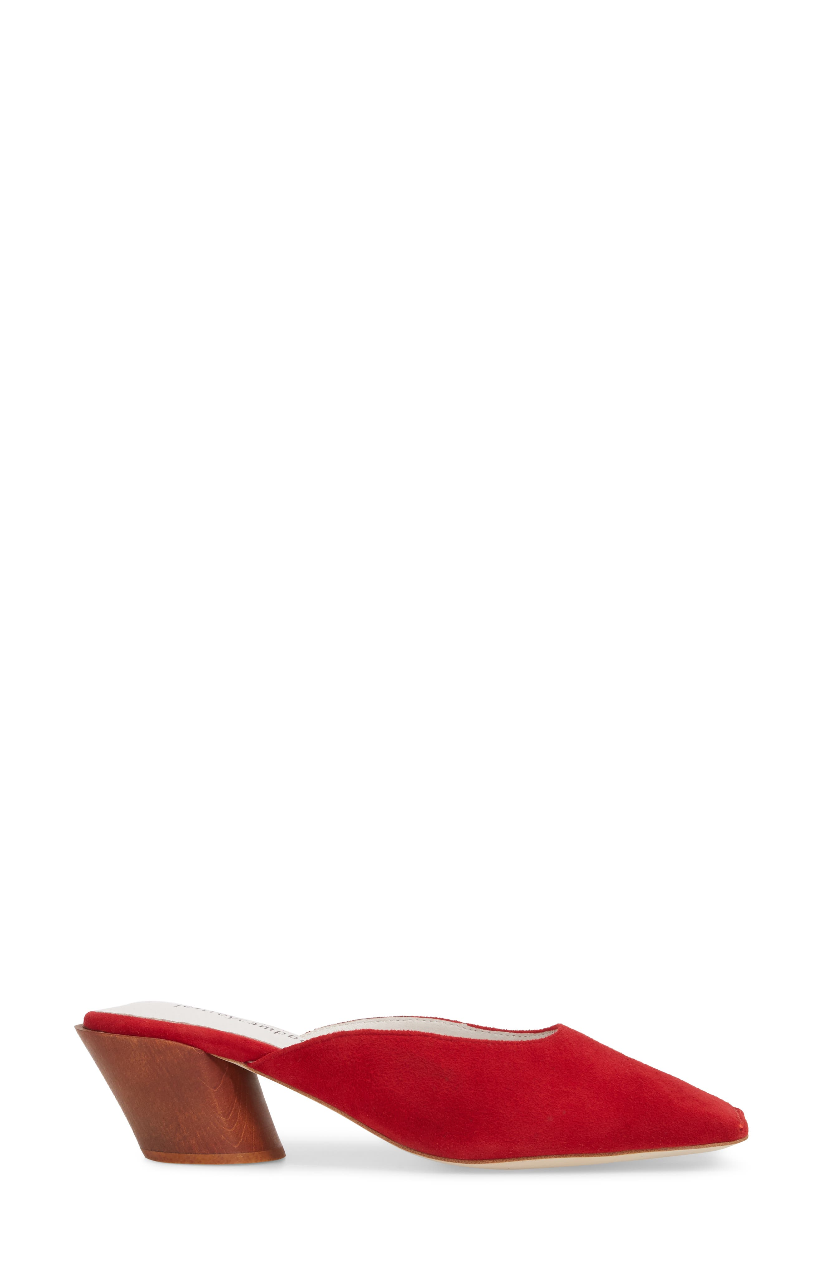 Lakme Mule,                             Alternate thumbnail 3, color,                             Red Suede