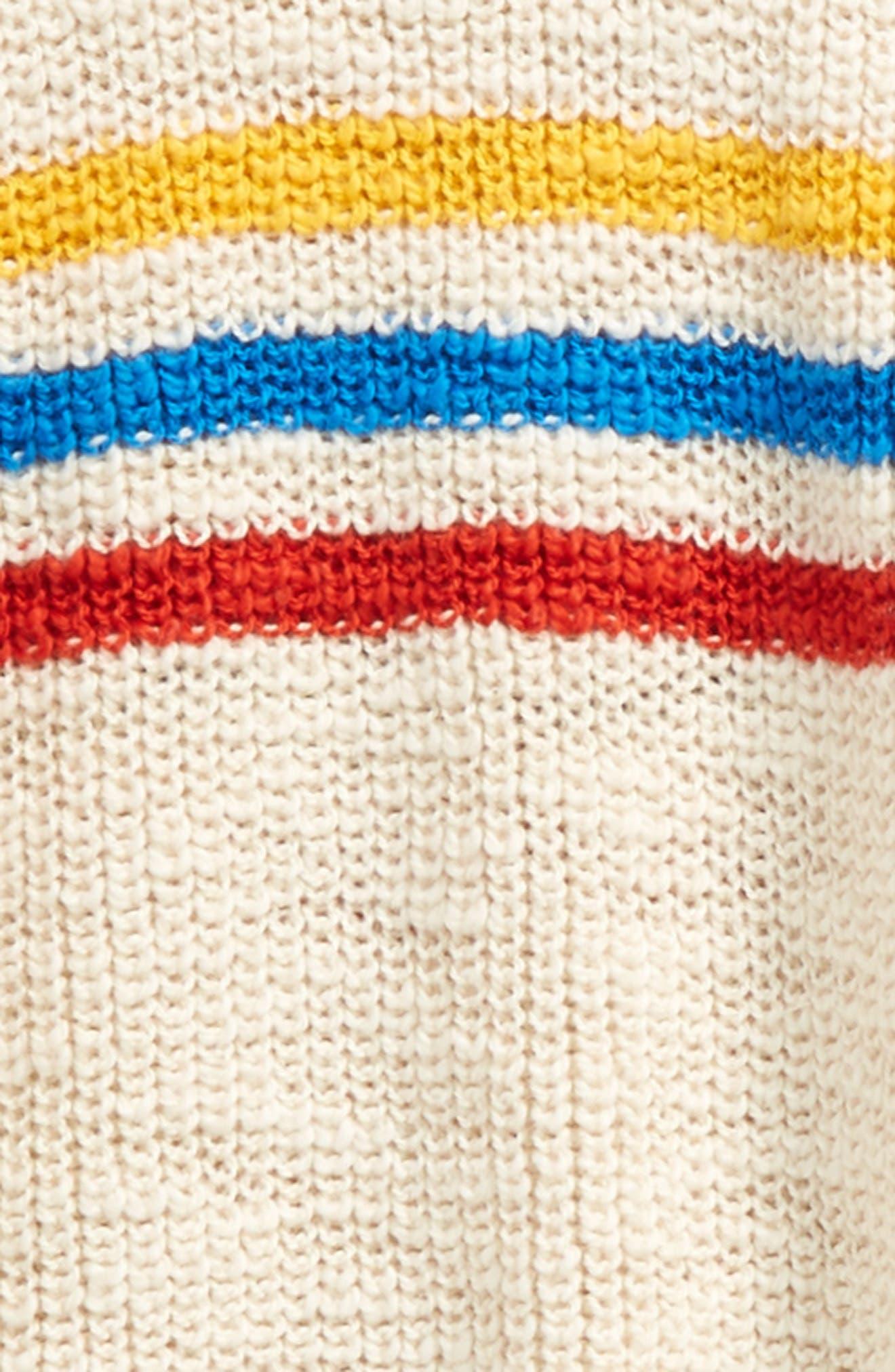 Stripe Sweater,                             Alternate thumbnail 2, color,                             Buttercream