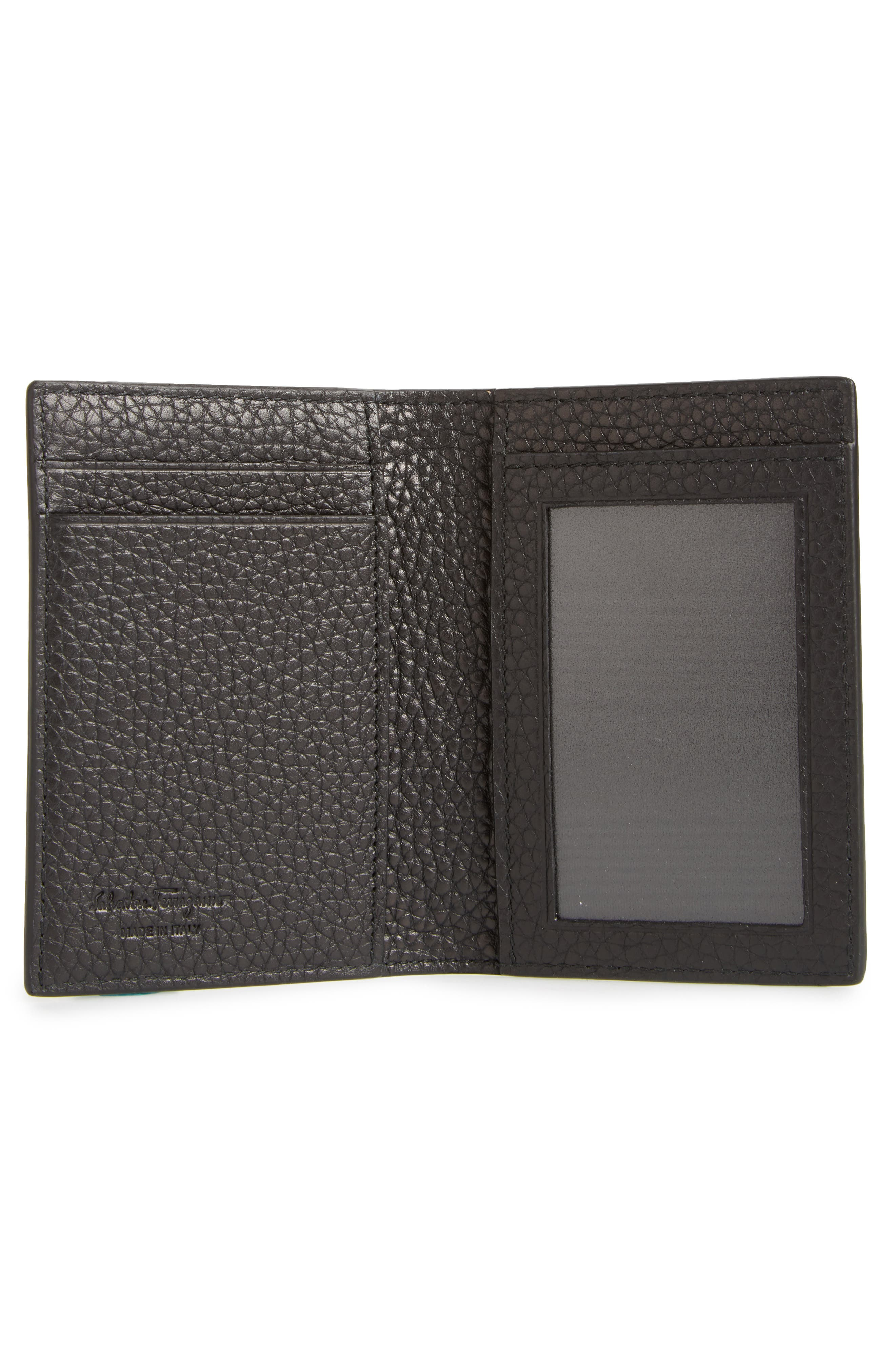 Firenze Leather Folding Card Case,                             Alternate thumbnail 2, color,                             Black