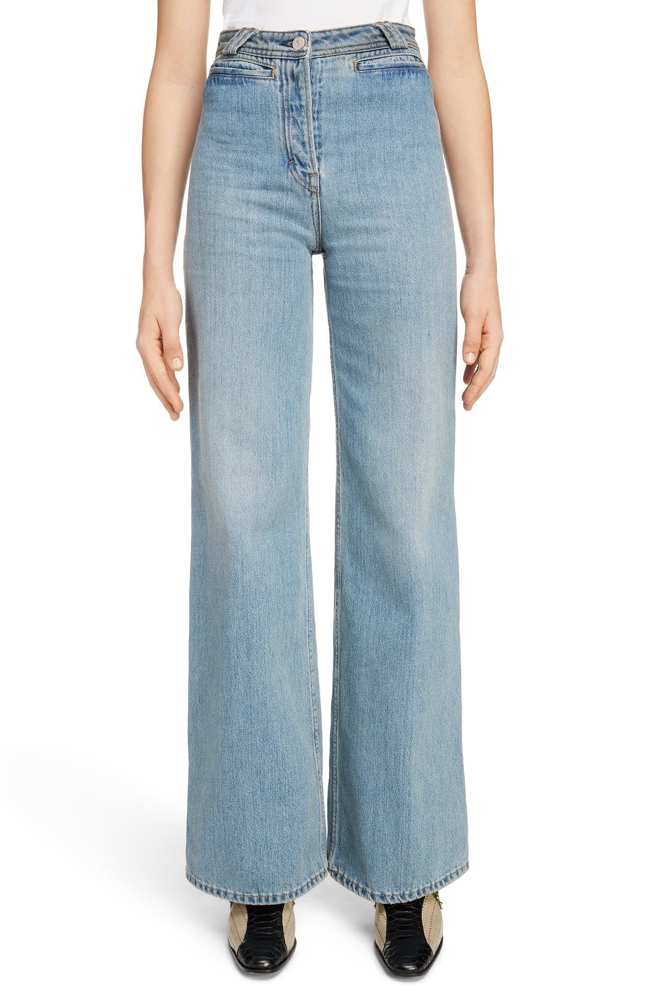 Tiffan Wide Leg Jeans,                         Main,                         color, Blue Vintage