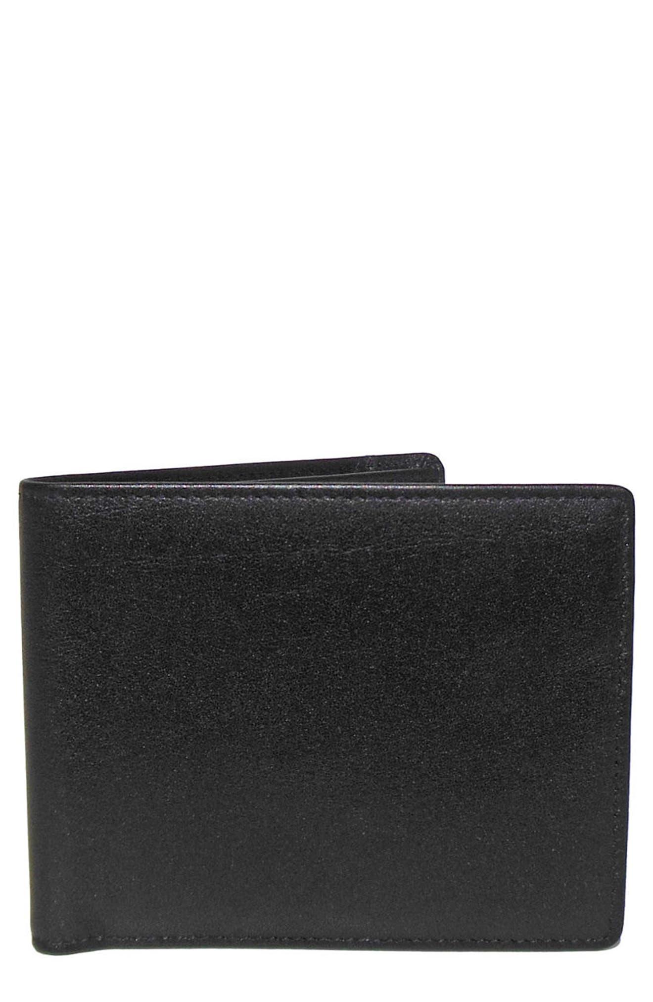 Grant Leather Wallet,                             Main thumbnail 1, color,                             Black
