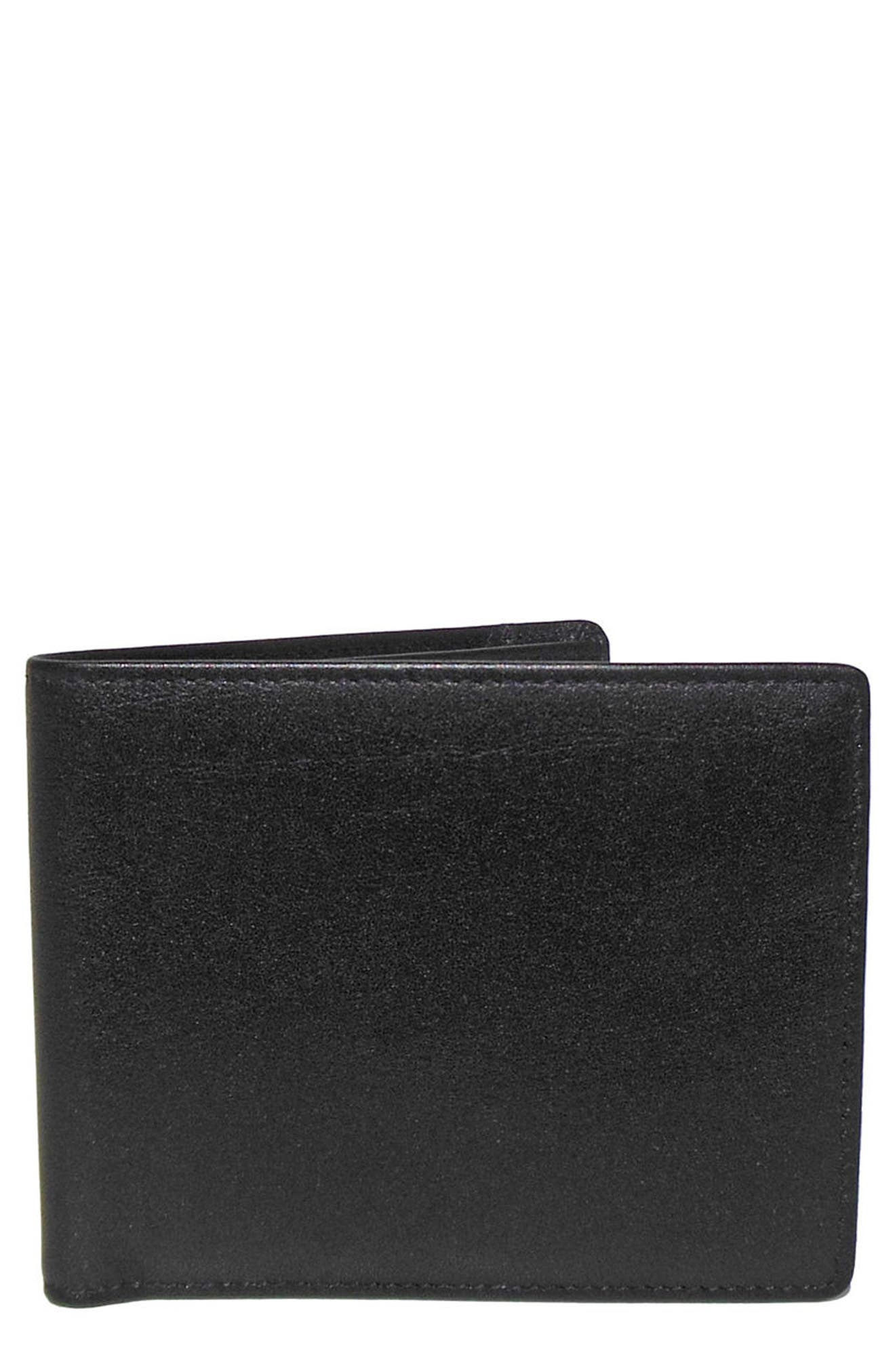 Grant Leather Wallet,                         Main,                         color, Black