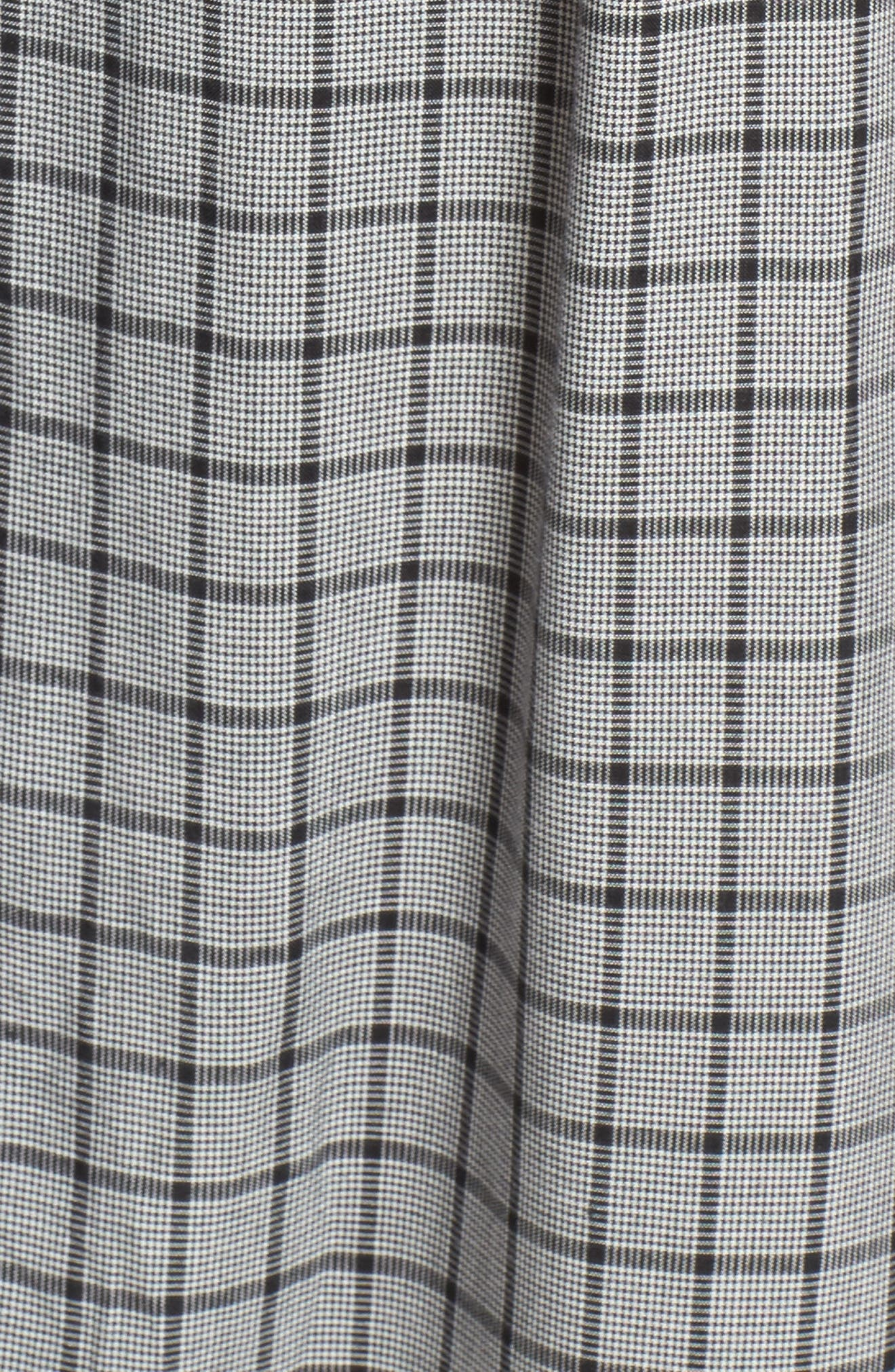 Quinn Corset Crop Jumpsuit,                             Alternate thumbnail 5, color,                             Black/ White