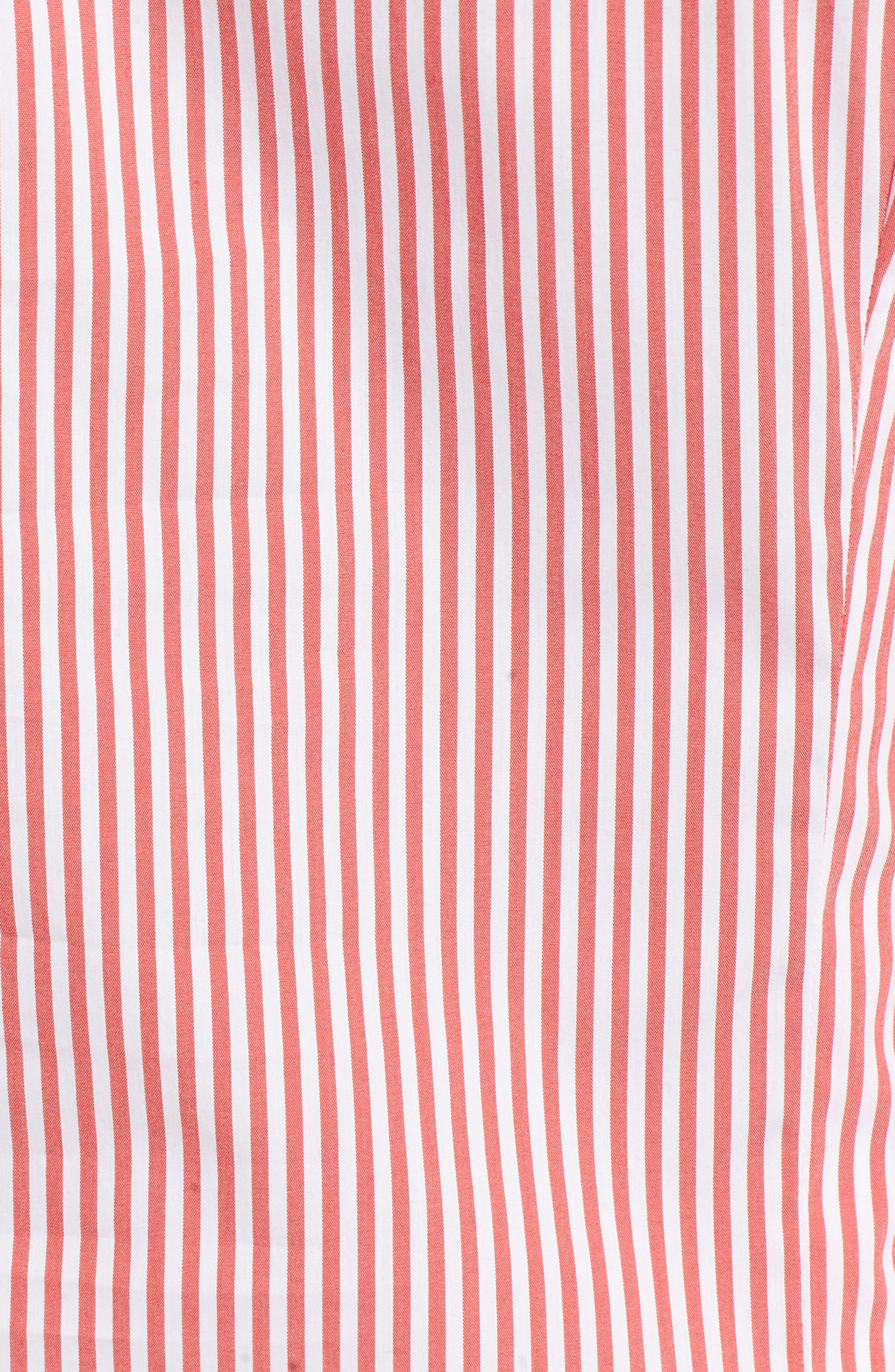 Adrianna Maternity Top,                             Alternate thumbnail 5, color,                             Red/White Stripe