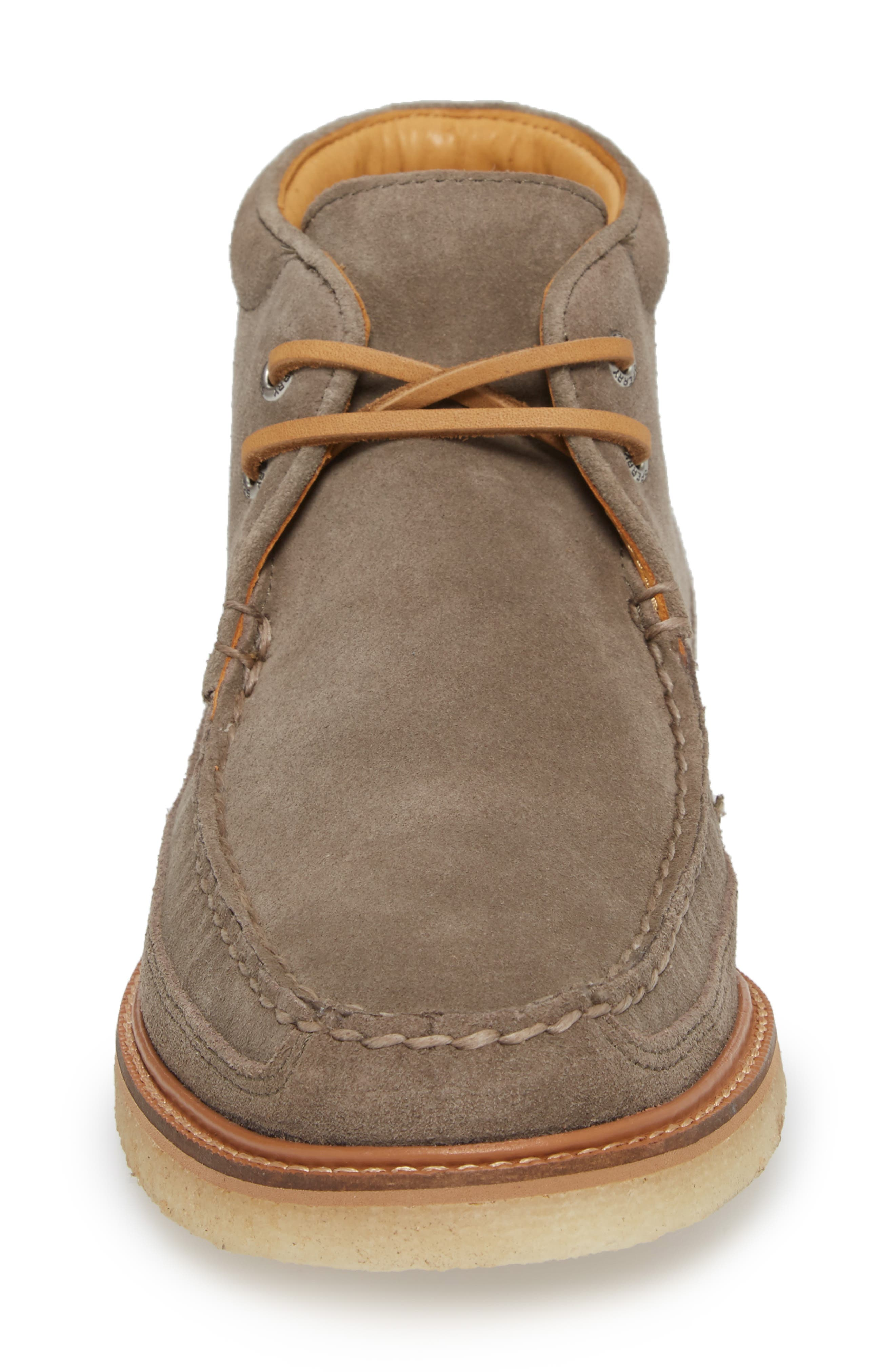 Gold Cup Chukka Boot,                             Alternate thumbnail 4, color,                             Taupe Grey Leather/ Suede