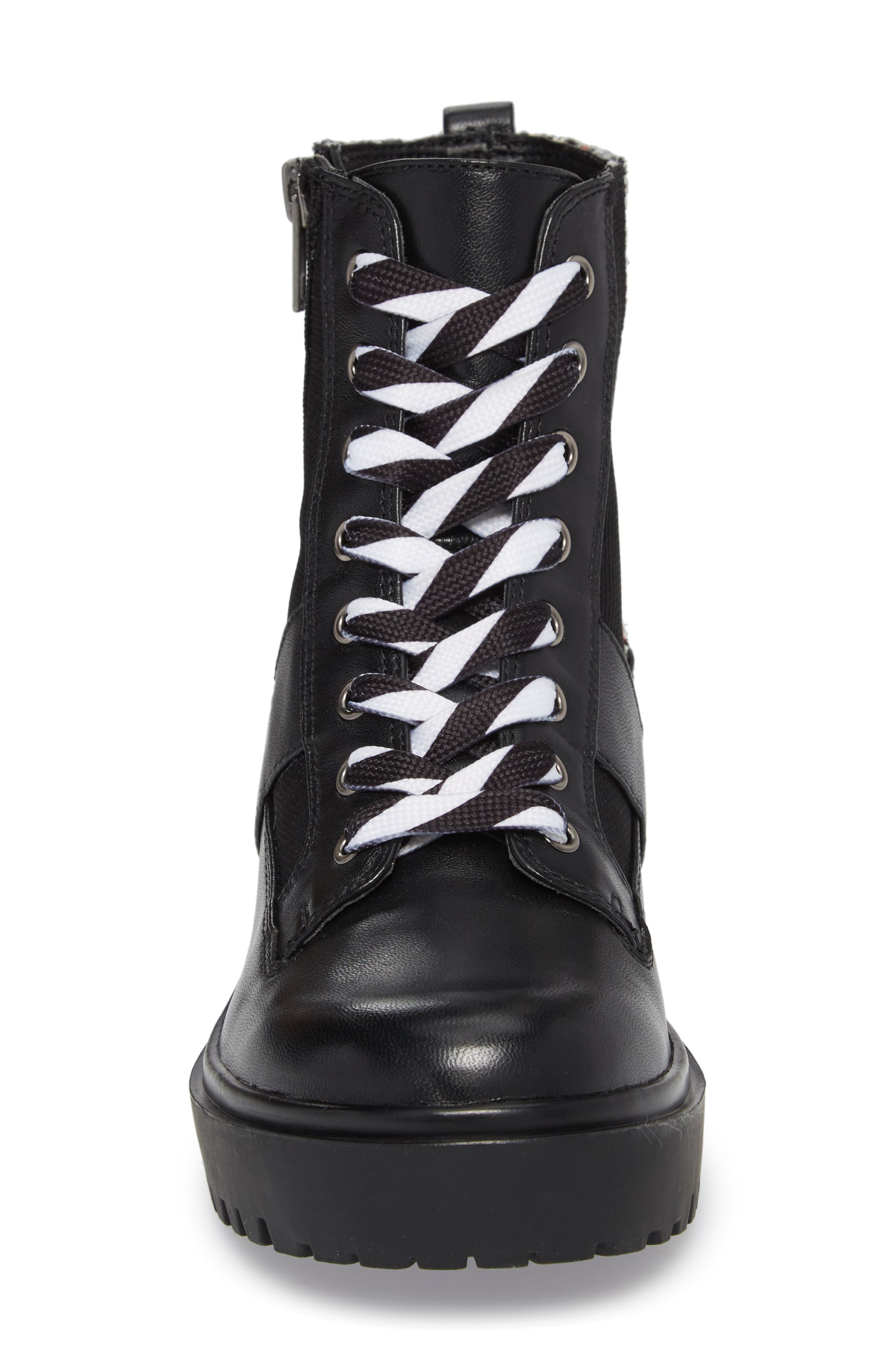 Lennox Combat Boot,                             Alternate thumbnail 4, color,                             Black Multi
