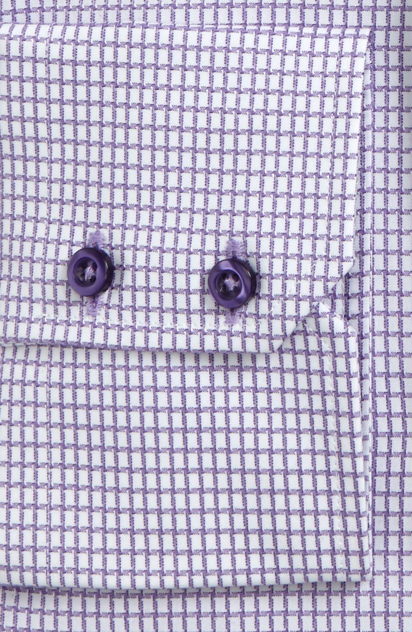 Trim Fit Check Dress Shirt,                             Alternate thumbnail 2, color,                             Lilac