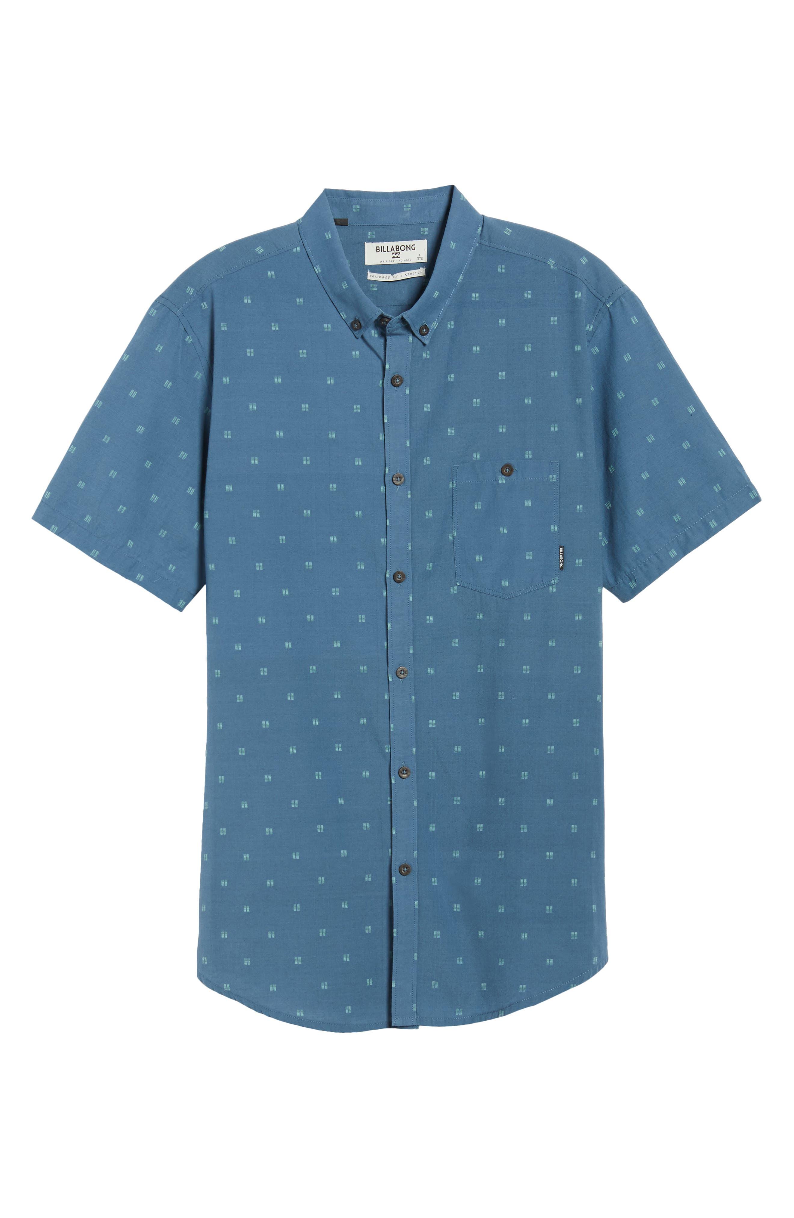 All Day Jacquard Shirt,                             Alternate thumbnail 6, color,                             Deep Blue
