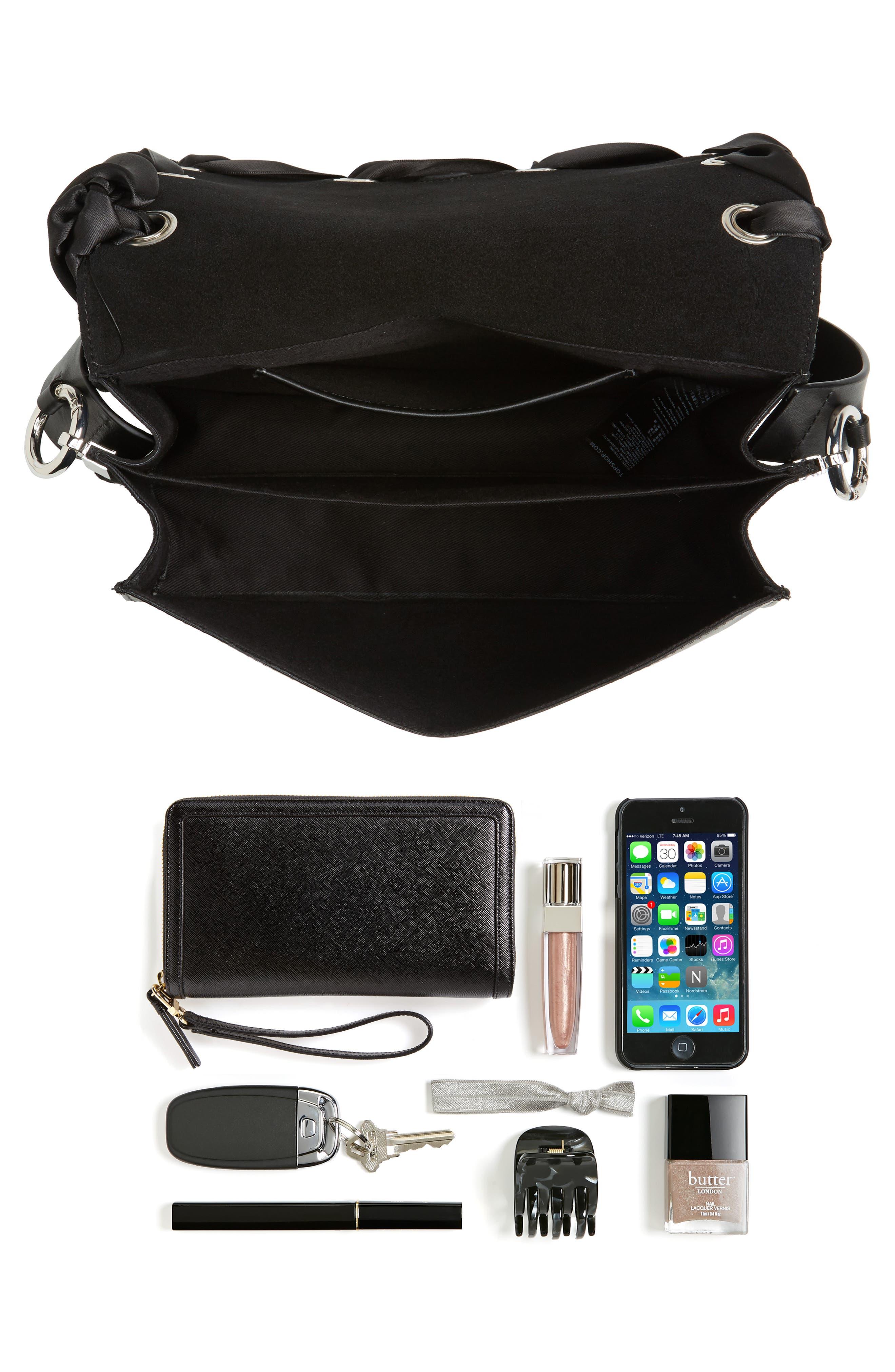 Alternate Image 7  - Topshop Premium Grace Leather Shoulder Bag