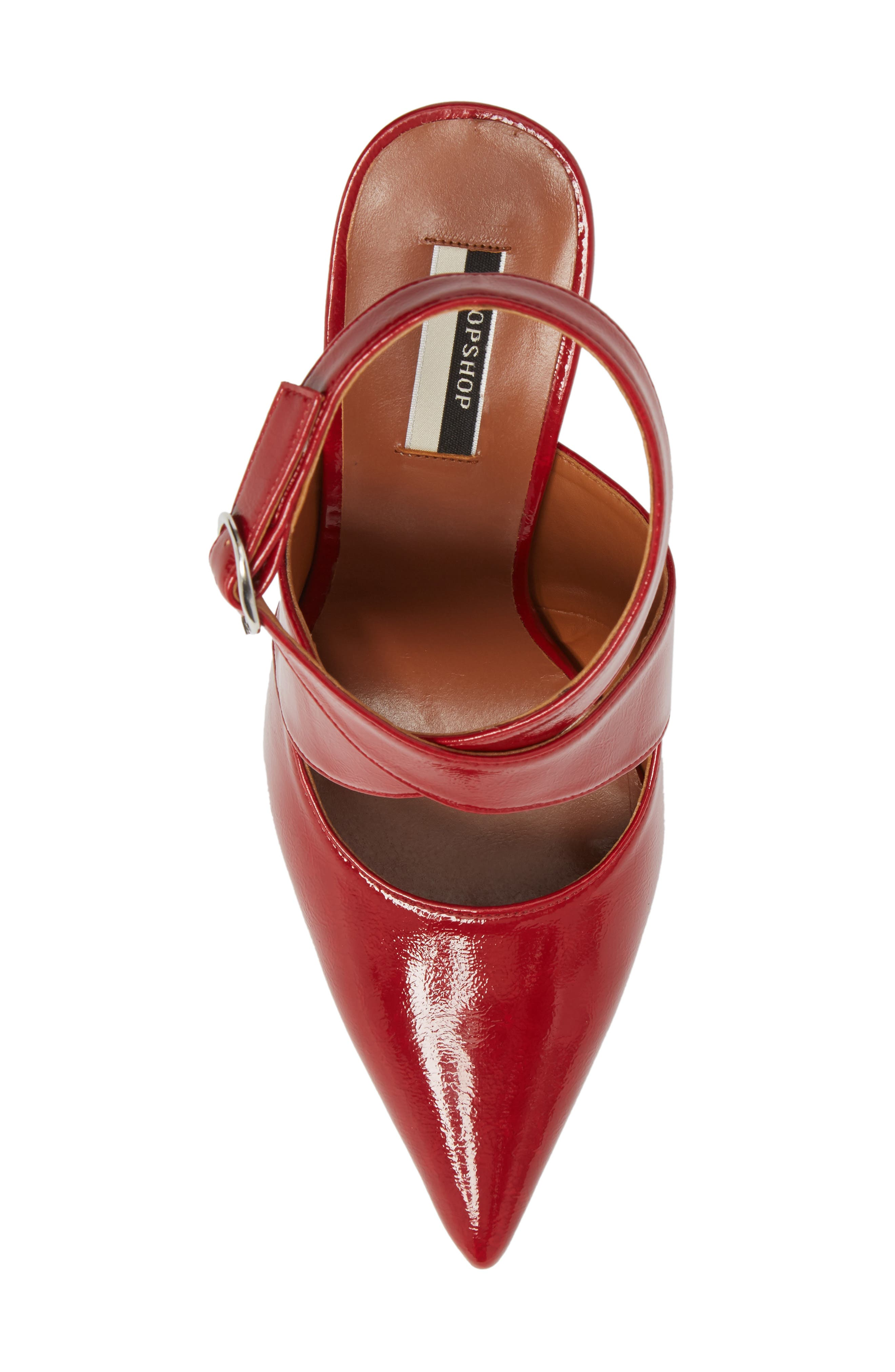 Galactic Pointy Toe Pump,                             Alternate thumbnail 5, color,                             Red