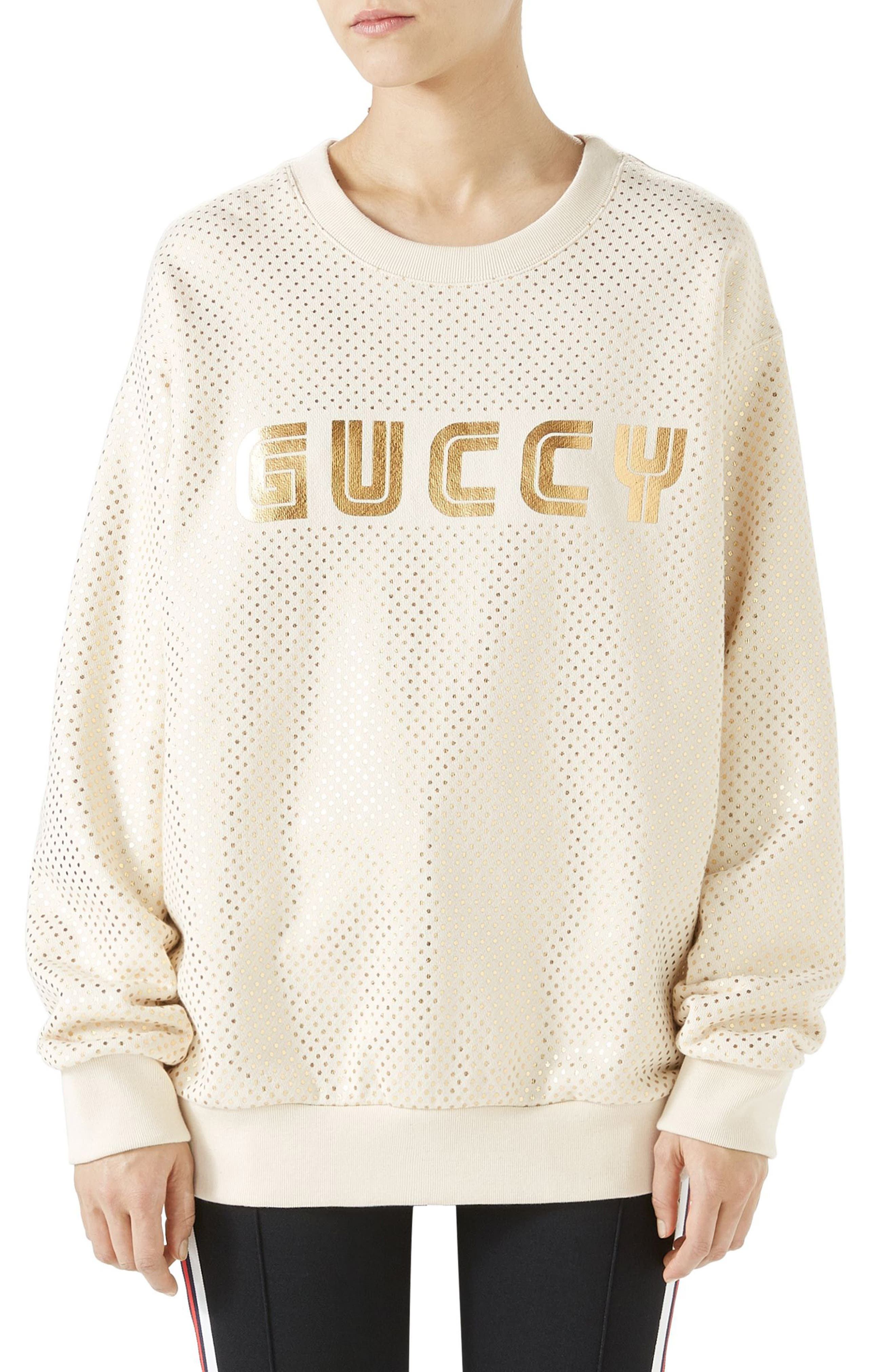 Gucci Metallic Logo Sweatshirt