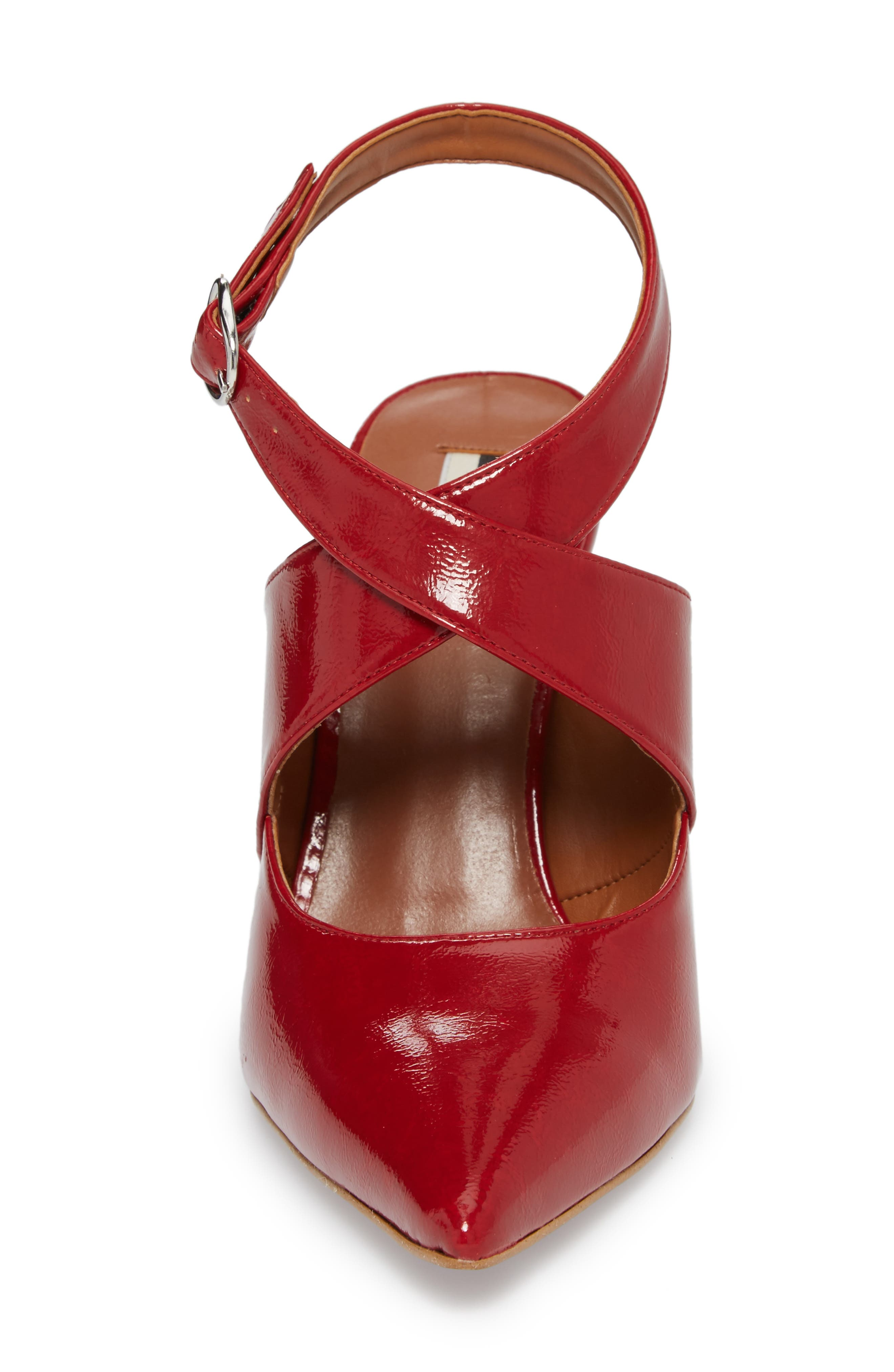 Galactic Pointy Toe Pump,                             Alternate thumbnail 4, color,                             Red
