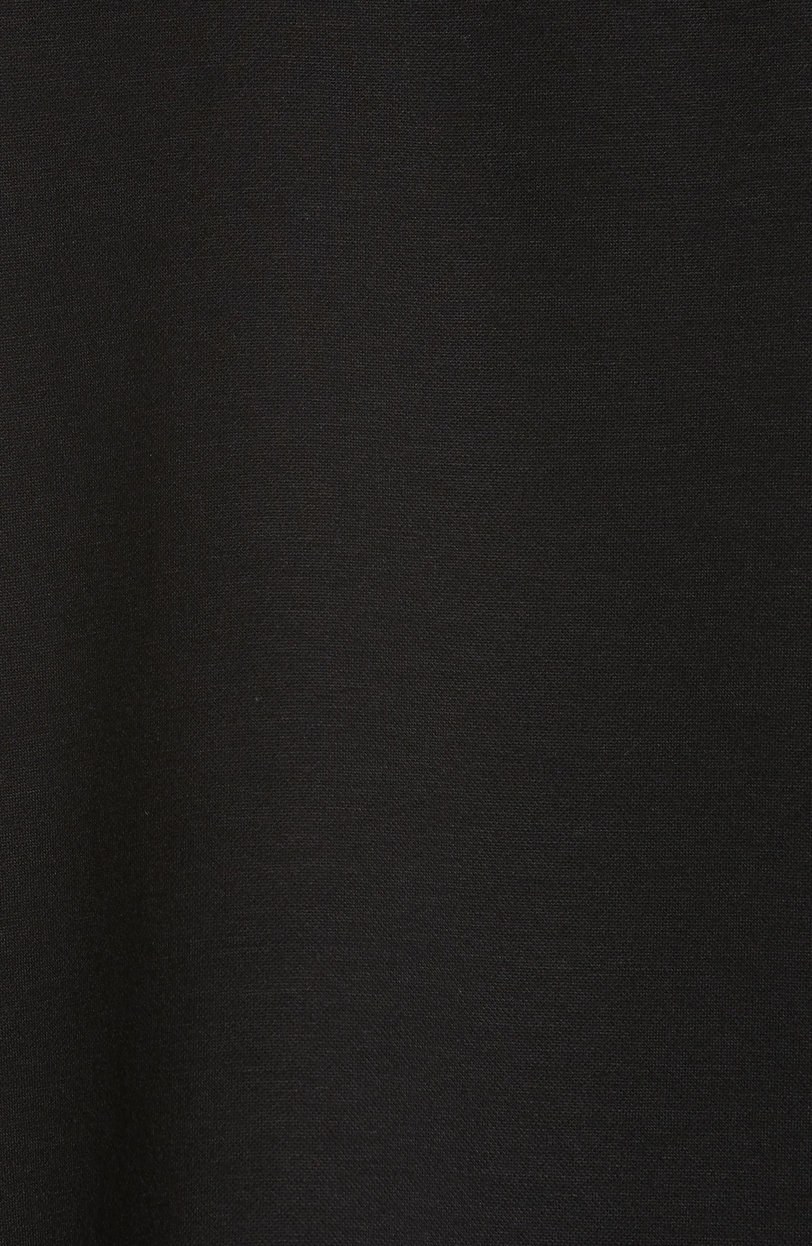 Elongated Placket Polo,                             Alternate thumbnail 5, color,                             Black