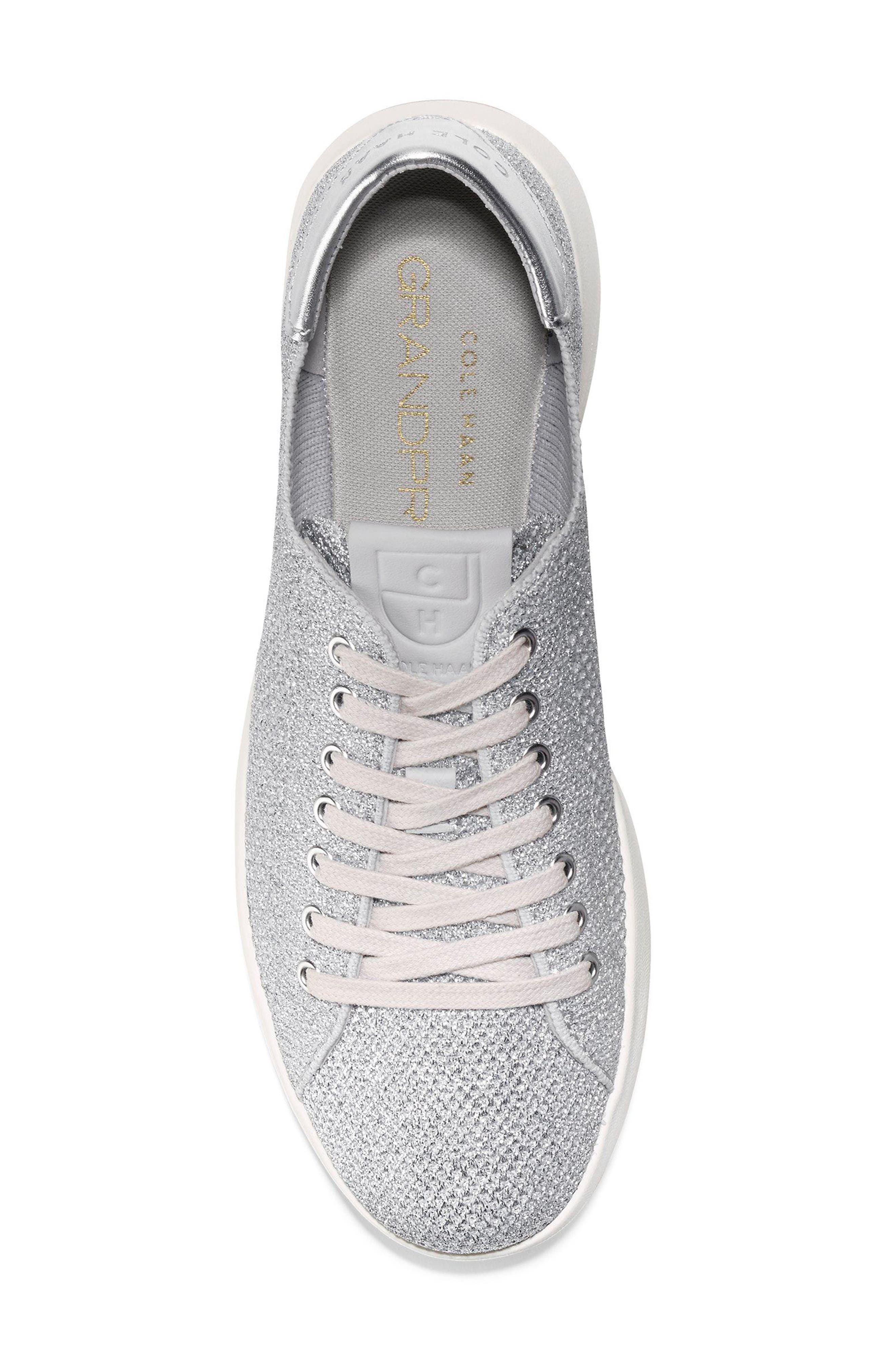 GrandPro Stitchlite Sneaker,                             Alternate thumbnail 5, color,                             Silver Fabric