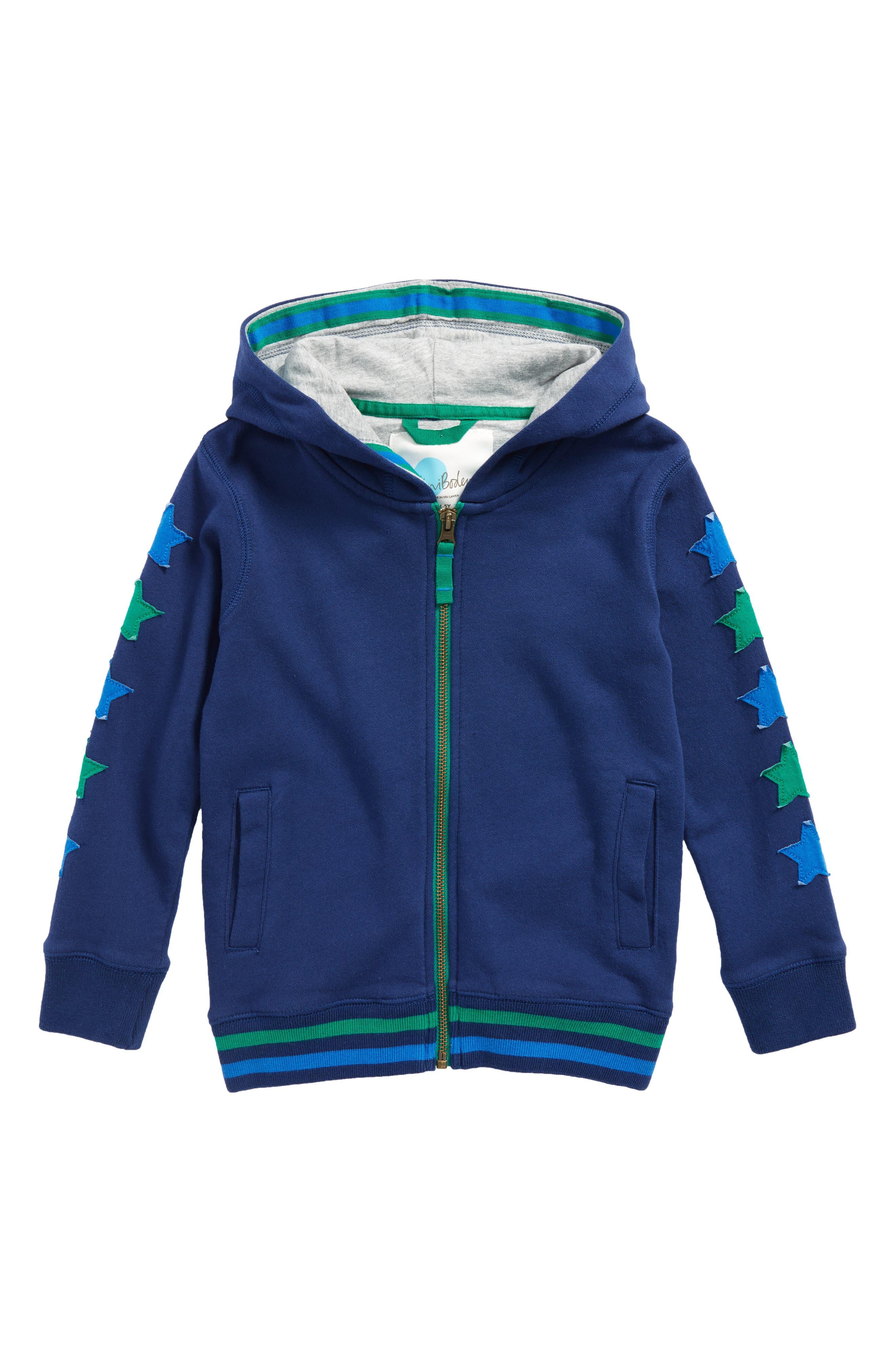 Starry Zip Hoodie,                         Main,                         color, Beacon Blue