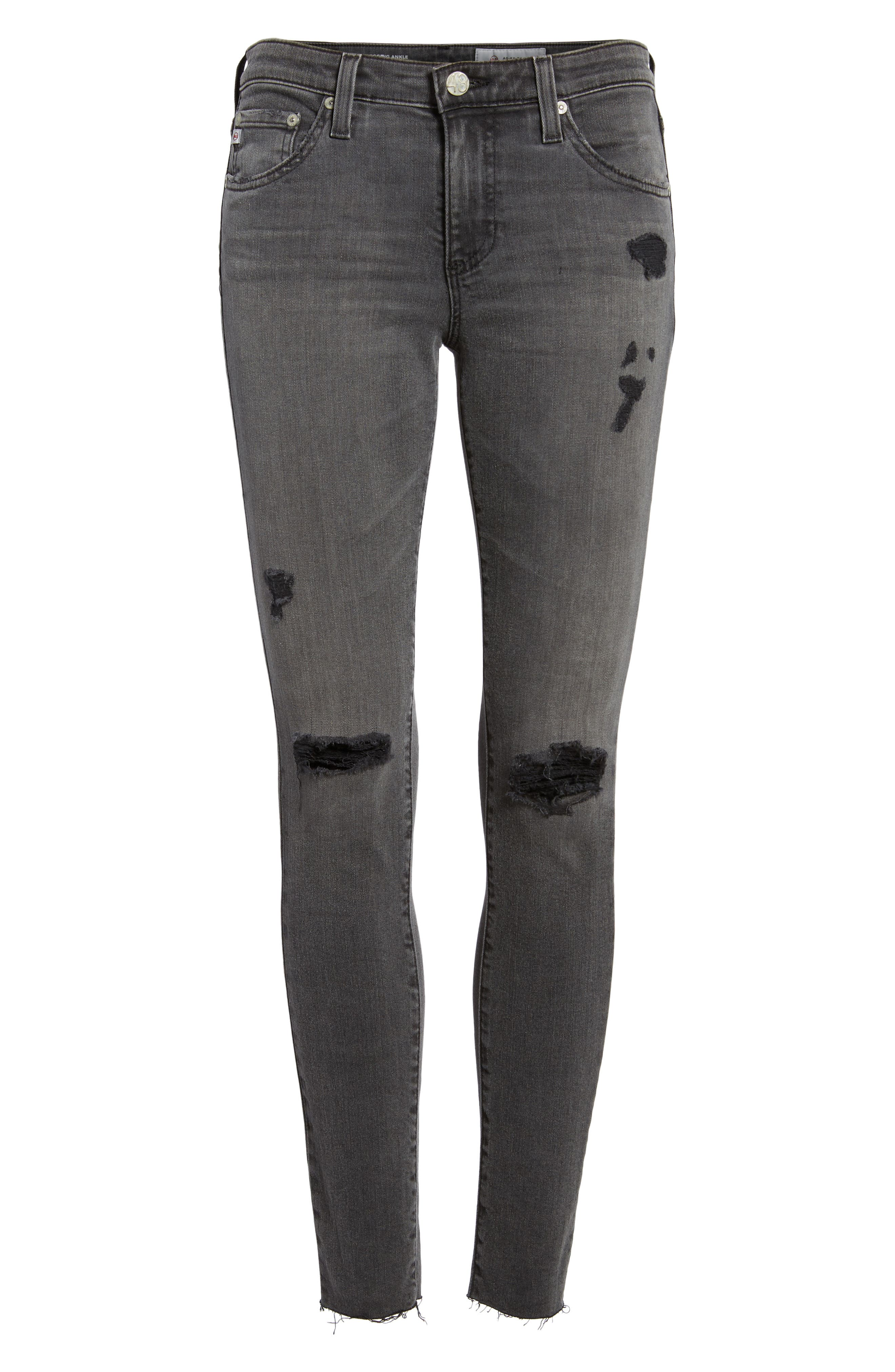The Legging Super Skinny Jeans,                             Alternate thumbnail 6, color,                             10 Years-Stone Ash