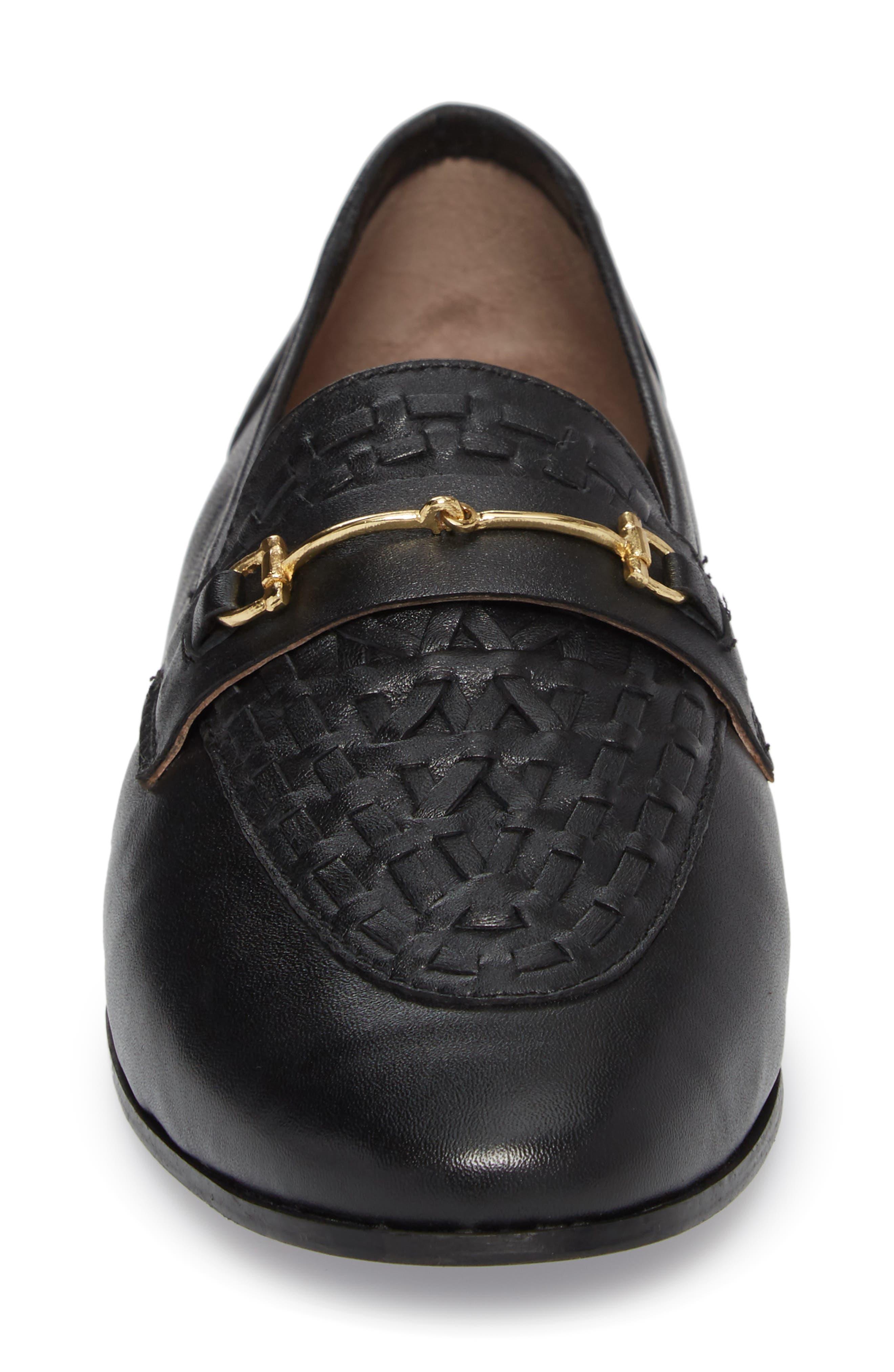 Kingley Woven Loafer,                             Alternate thumbnail 4, color,                             Black