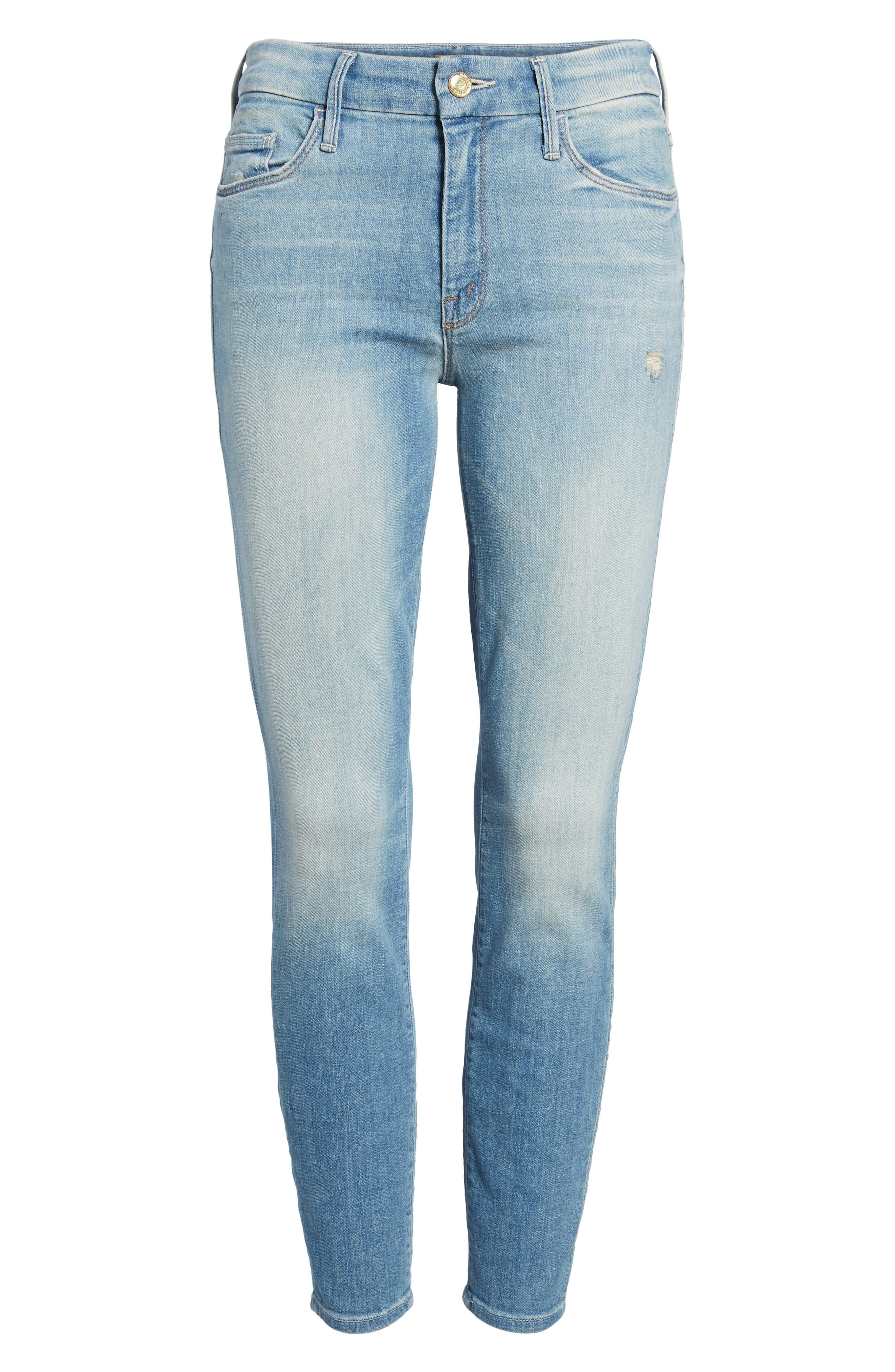 The Looker Crop Skinny Jeans,                             Alternate thumbnail 7, color,                             Shake Well