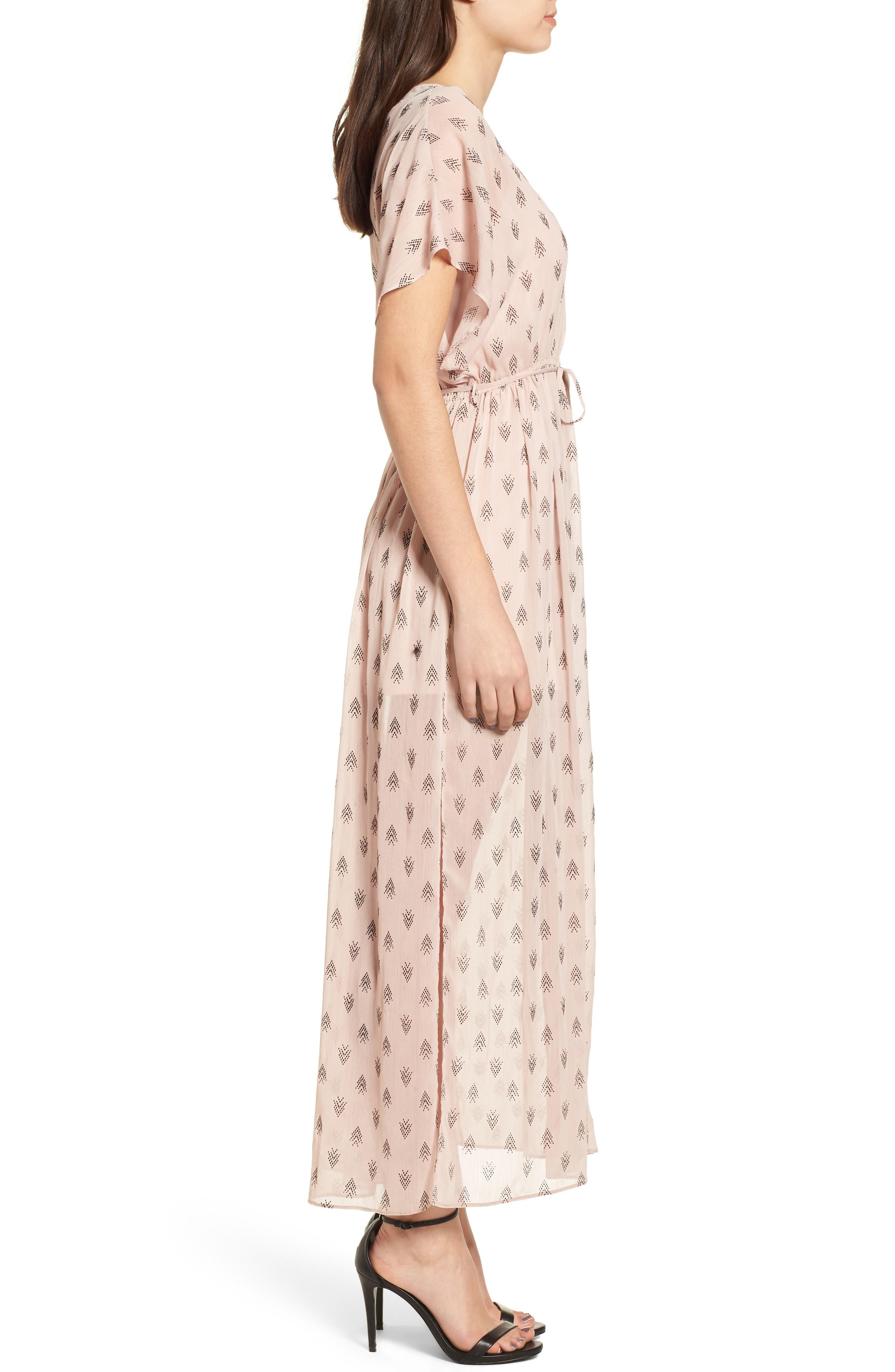 Brooke Slit Hem Dress,                             Alternate thumbnail 4, color,                             Blush