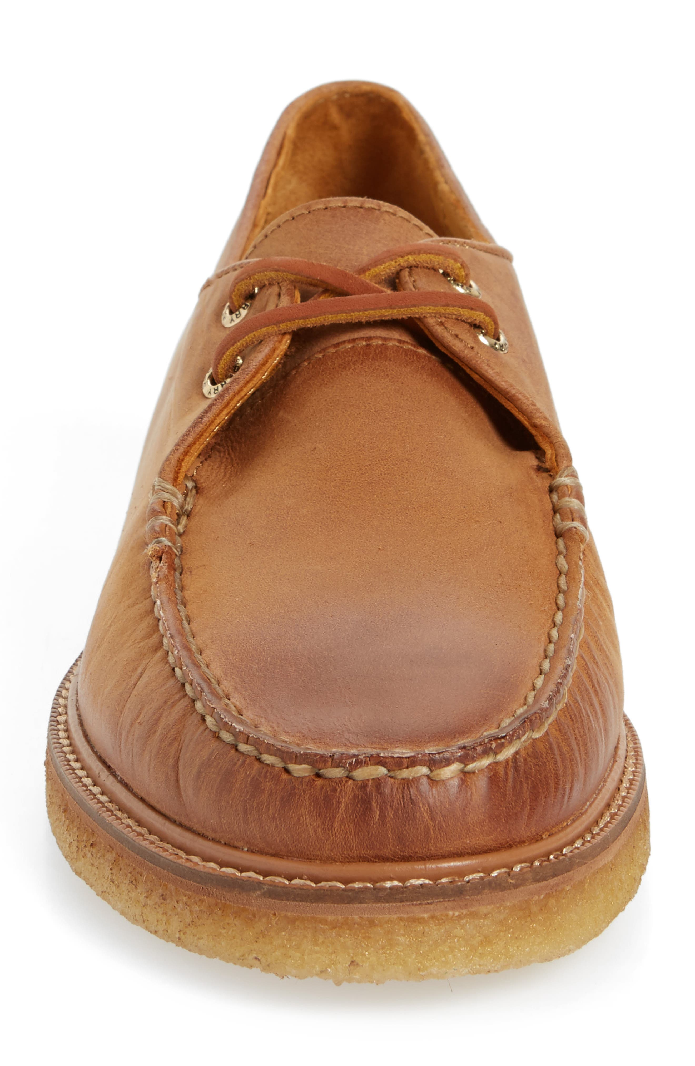 Gold Cup Captain's Crepe Sole Oxford,                             Alternate thumbnail 4, color,                             Tan Leather