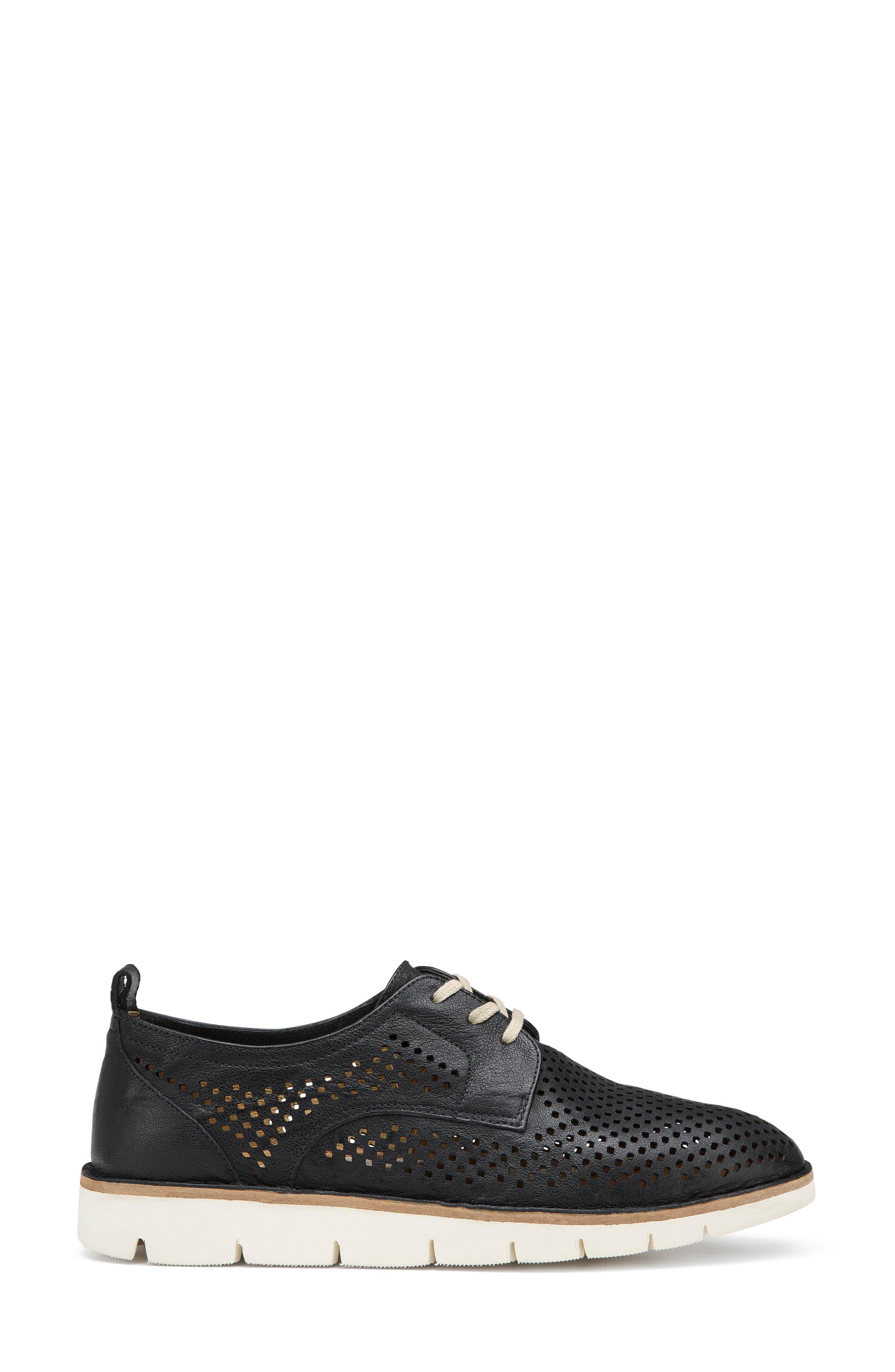 Lena Sneaker,                             Alternate thumbnail 3, color,                             Black Leather