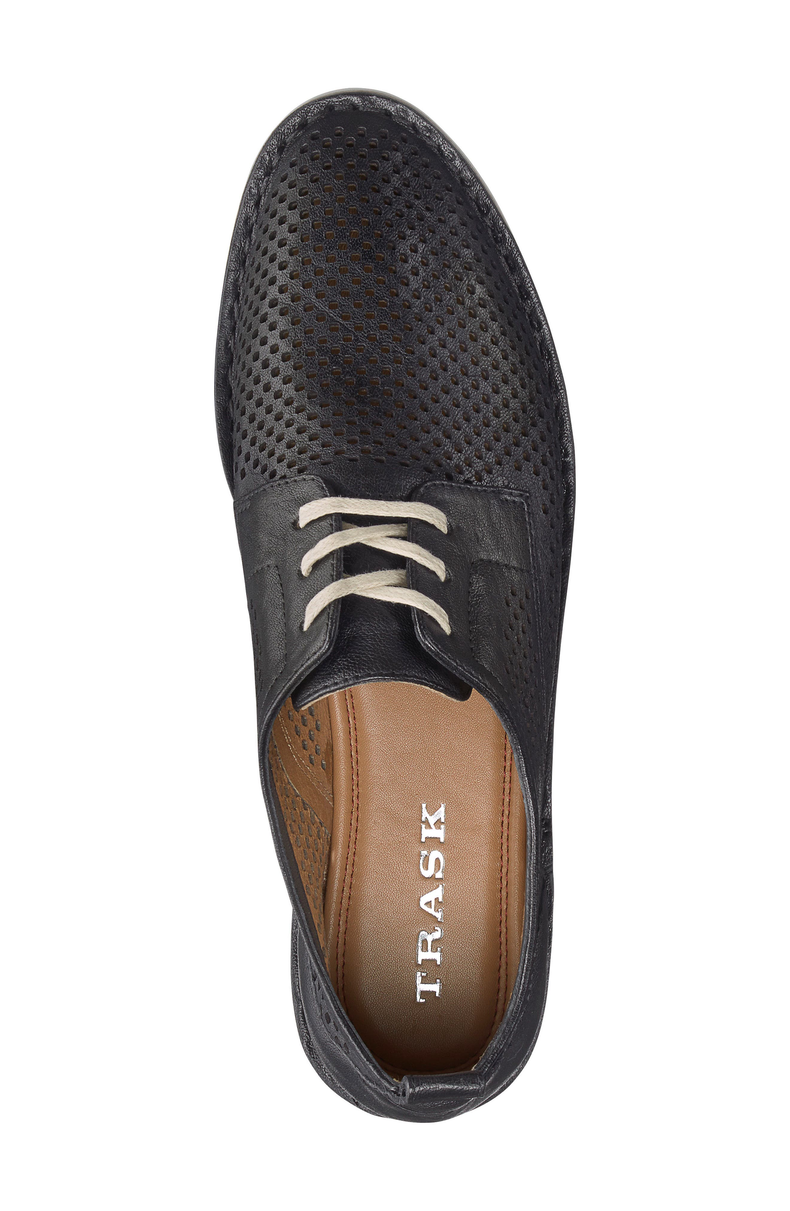 Lena Sneaker,                             Alternate thumbnail 5, color,                             Black Leather